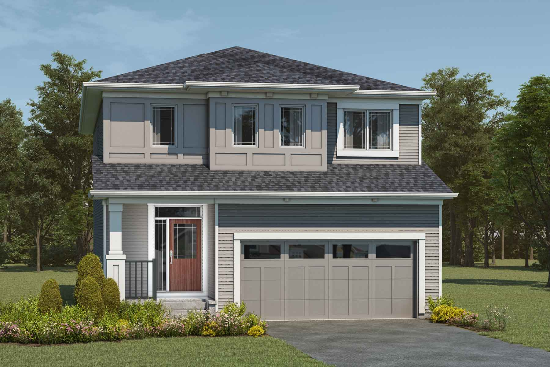 Fullerton Plan Elevation Front at Cityscape in Calgary Alberta by Mattamy Homes