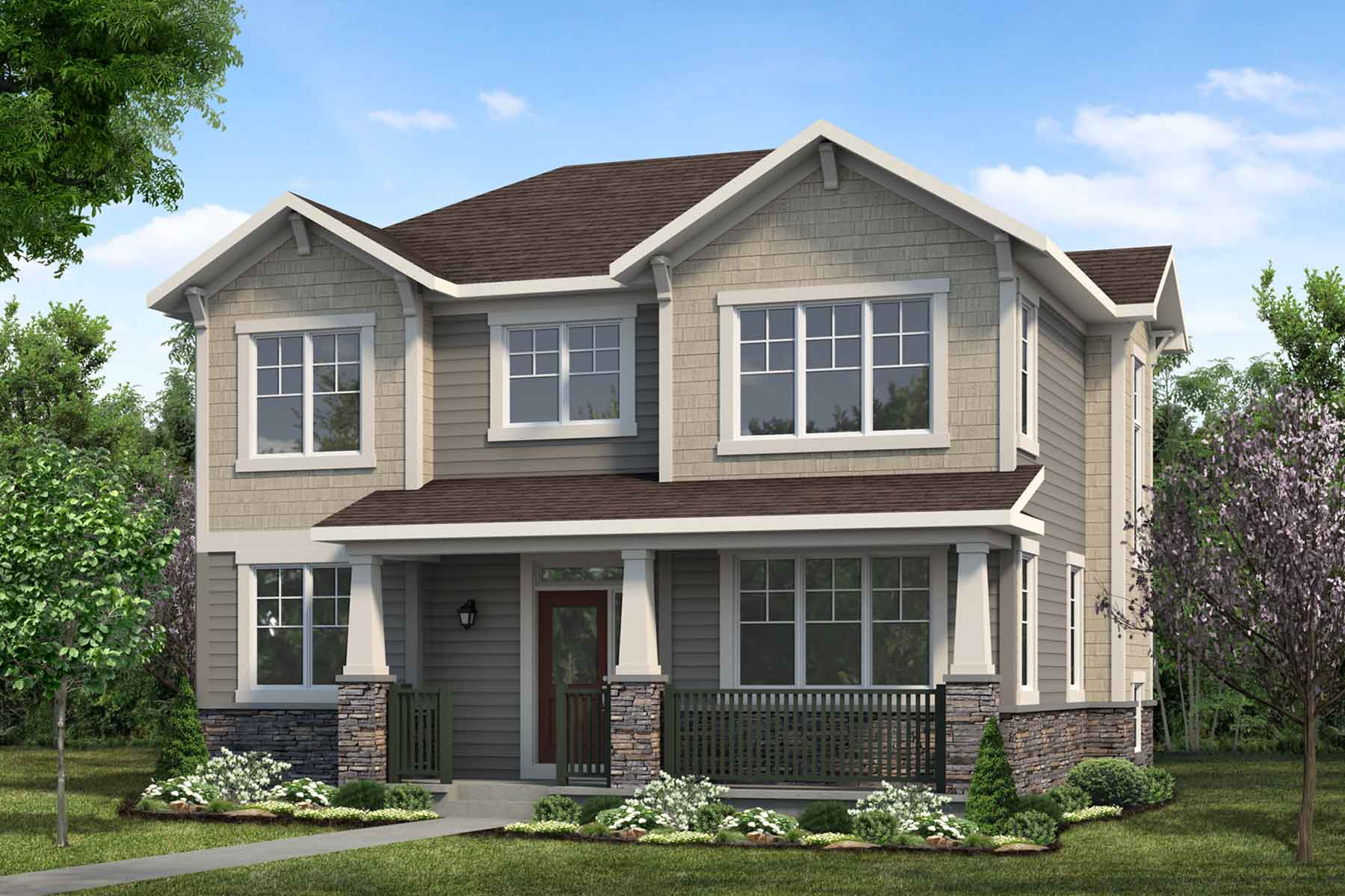 Hurley Plan Elevation Front at Cityscape in Calgary Alberta by Mattamy Homes