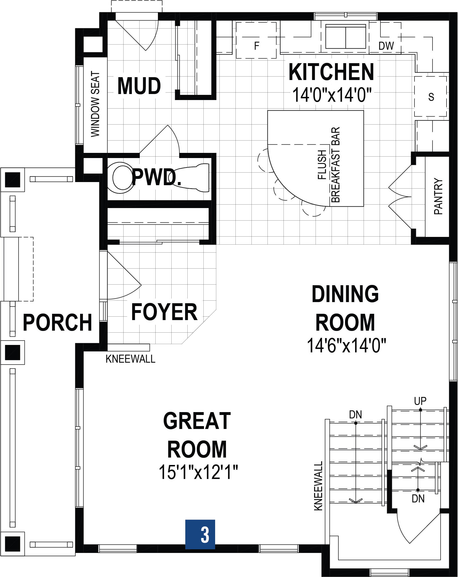 Hurley Plan Floor Plan at Cityscape in Calgary Alberta by Mattamy Homes
