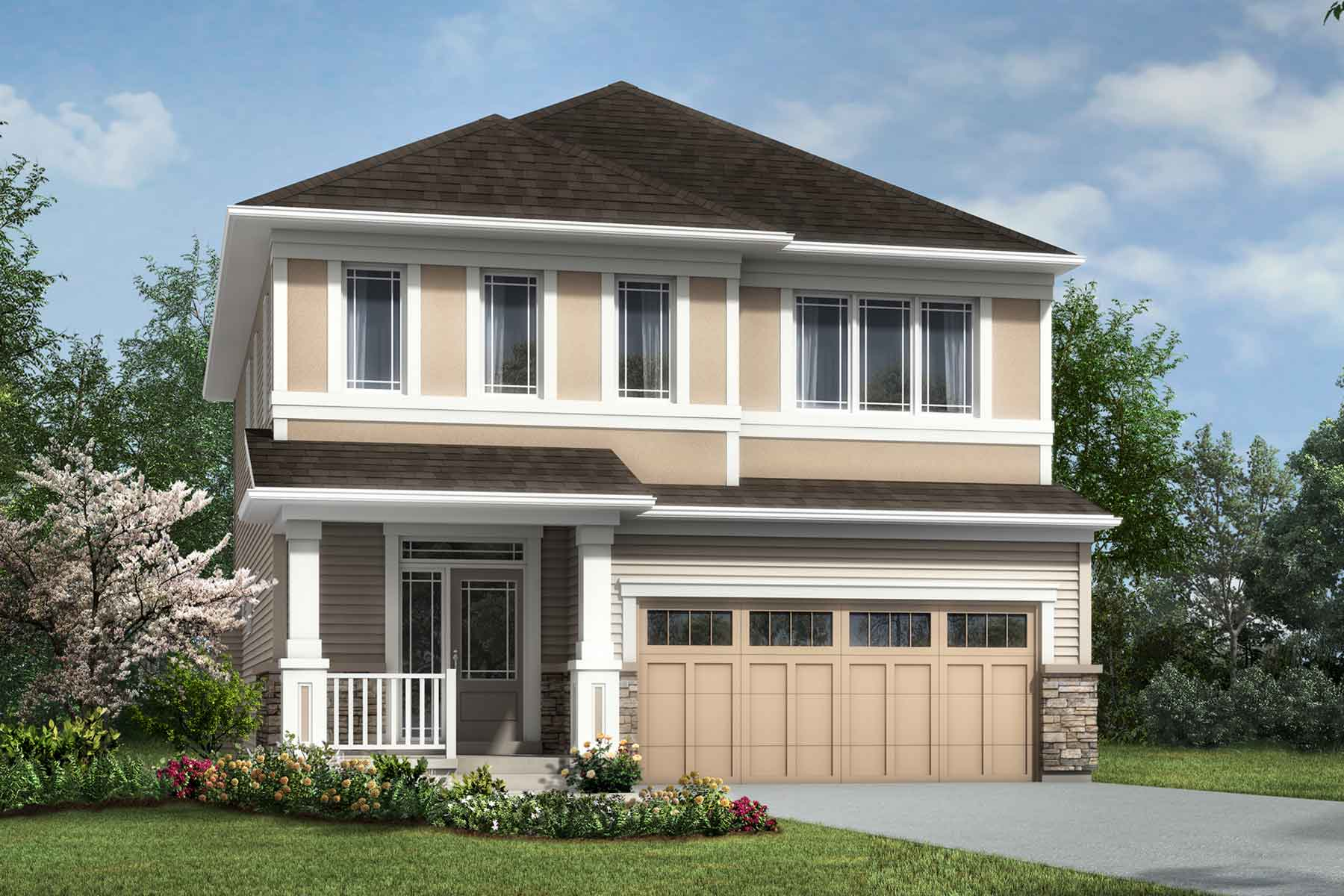 The Chinook Plan Elevation Front at Cityscape in Calgary Alberta by Mattamy Homes