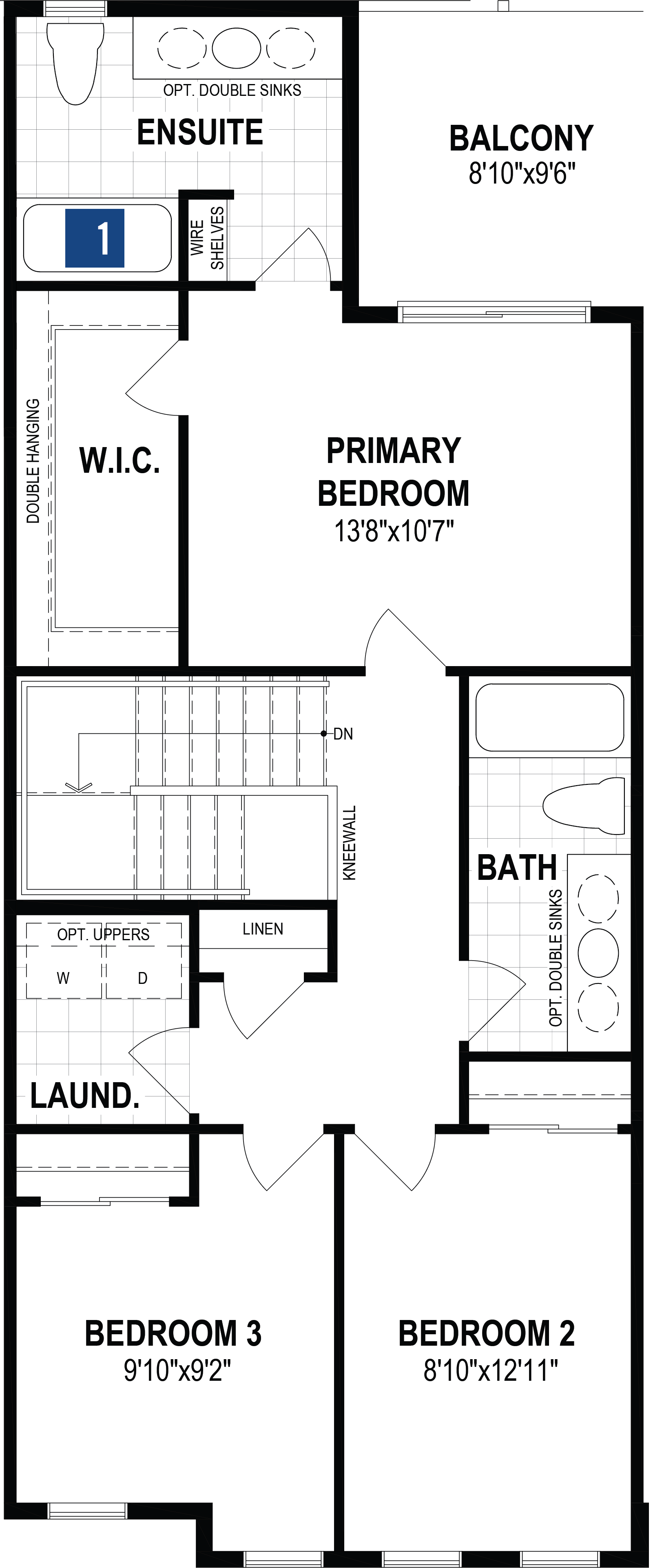 Kanata Plan Floor Plan at Cityscape in Calgary Alberta by Mattamy Homes