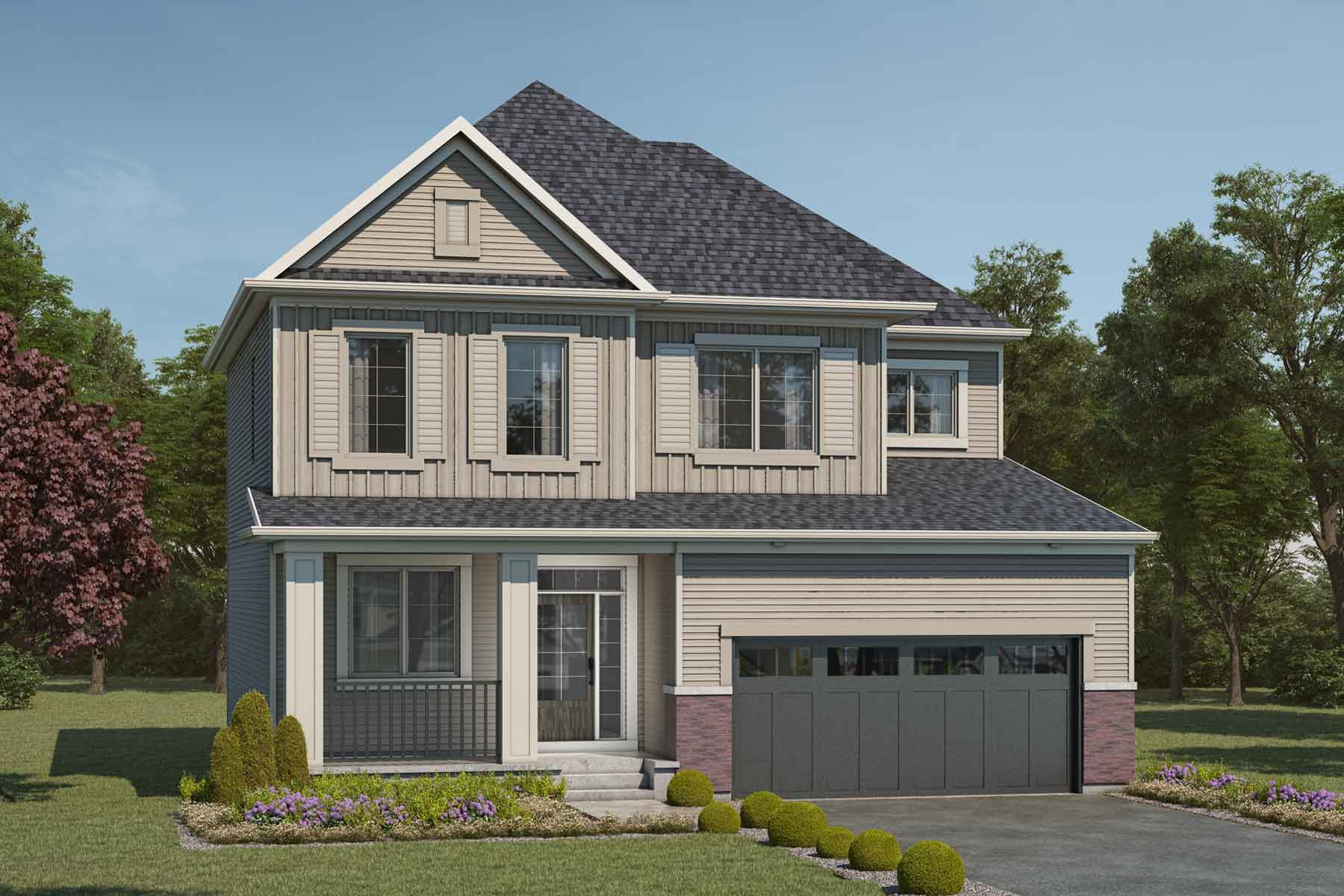 Maclaren Plan Elevation Front at Cityscape in Calgary Alberta by Mattamy Homes