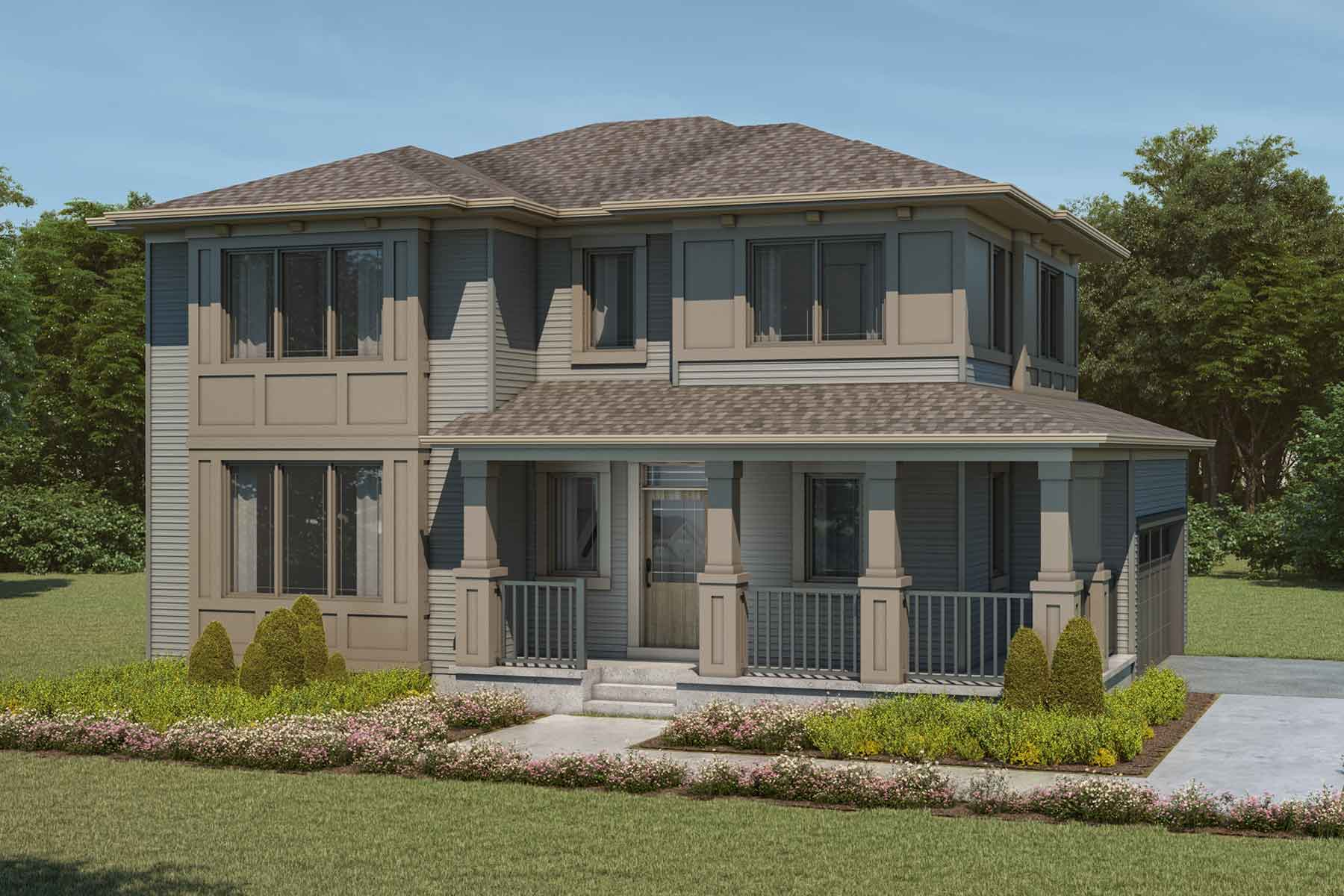 Monarch Plan Elevation Front at Cityscape in Calgary Alberta by Mattamy Homes