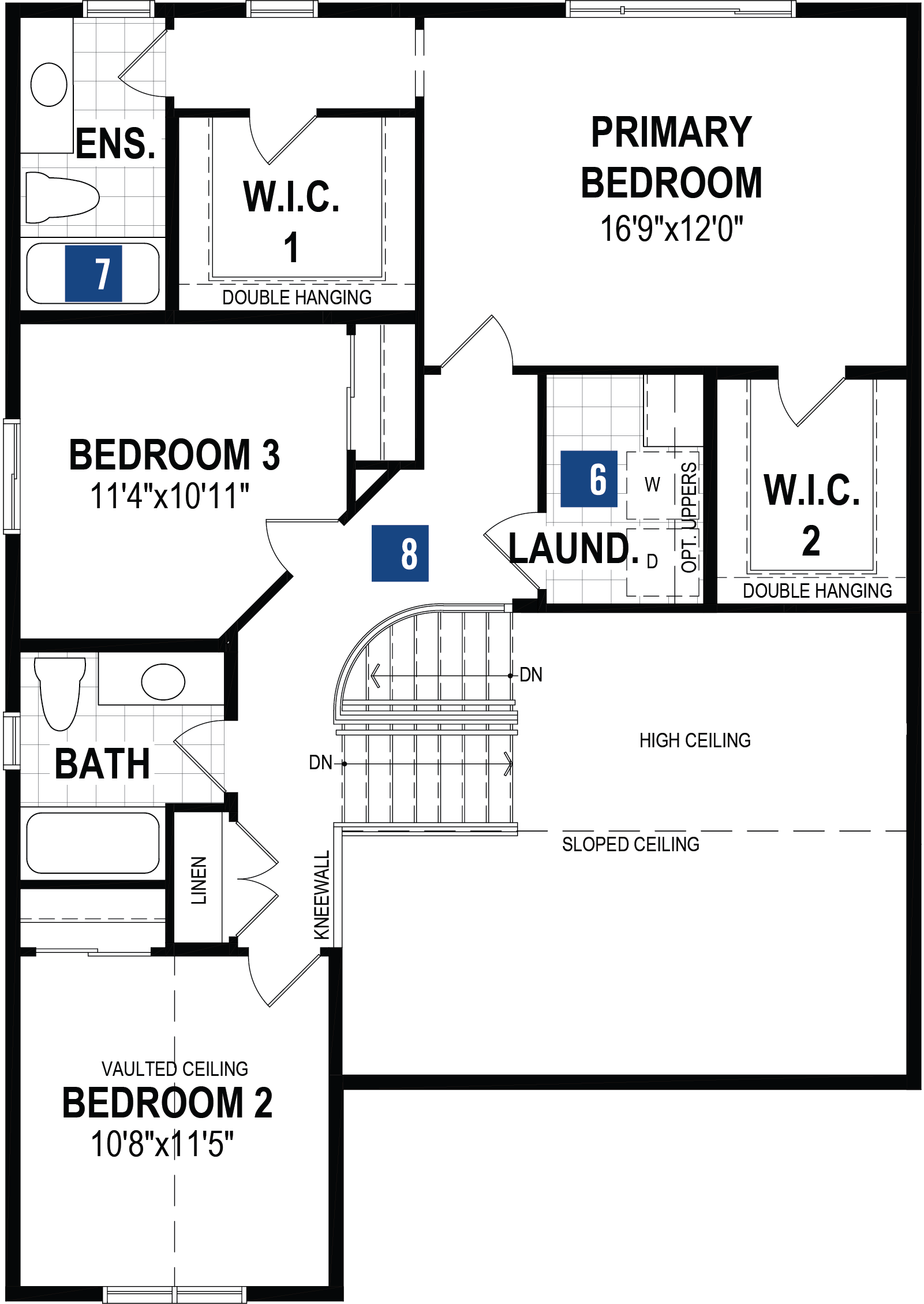 Onyx Plan Floor Plan at Cityscape in Calgary Alberta by Mattamy Homes