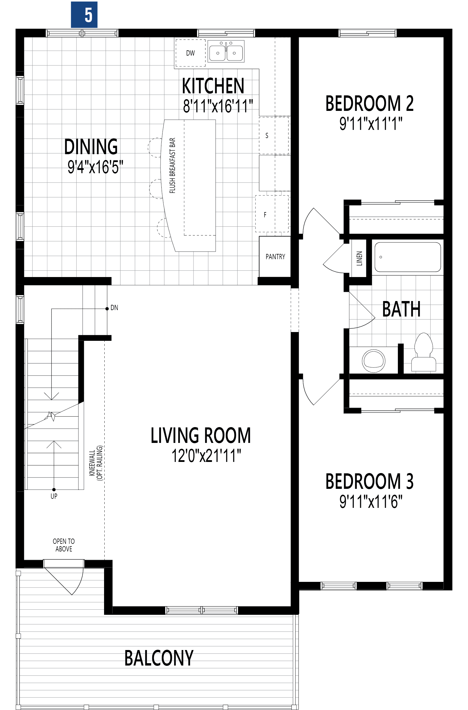 Palmer Plan Floor Plan at Cityscape in Calgary Alberta by Mattamy Homes