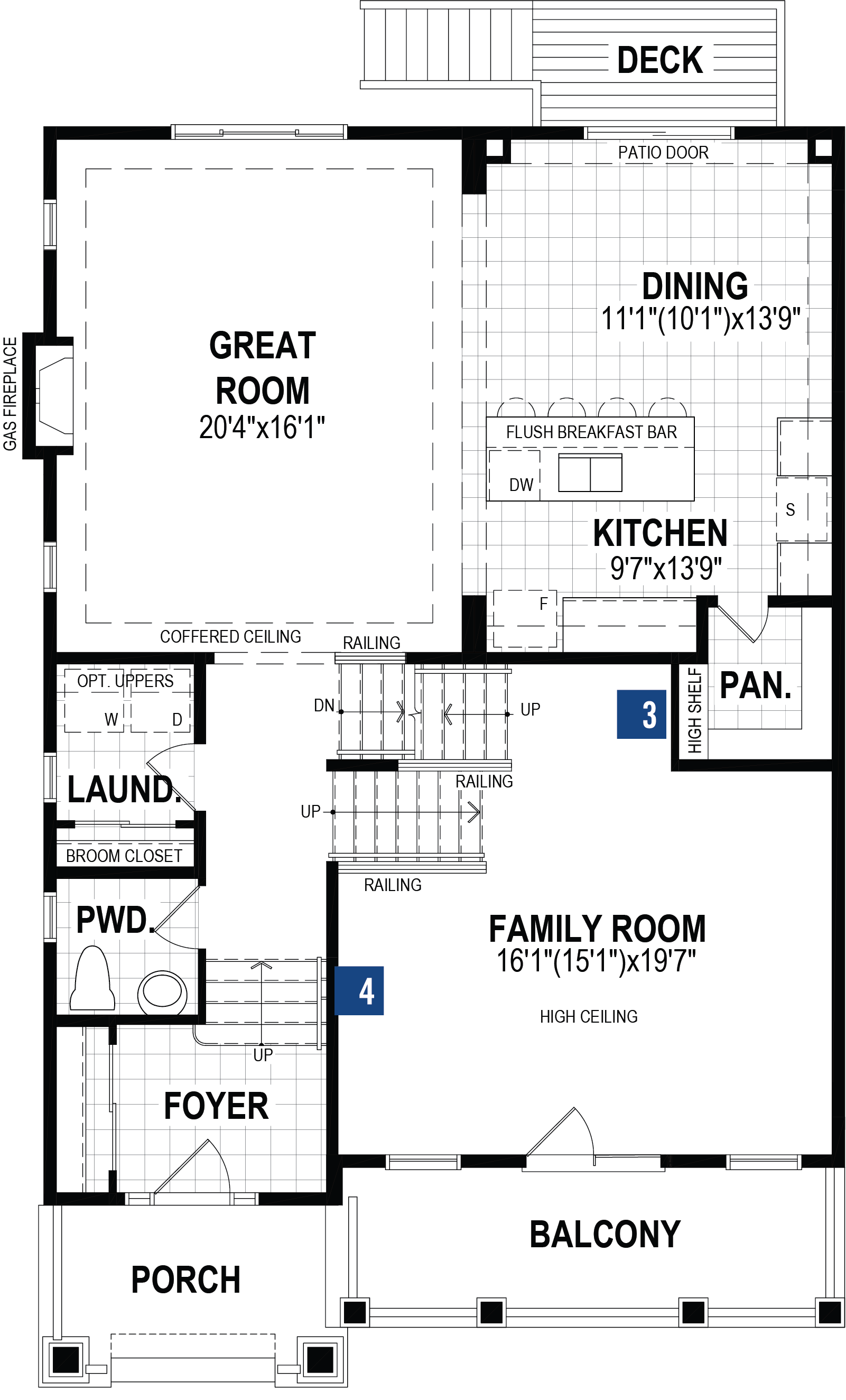 Pearl Plan Floor Plan at Cityscape in Calgary Alberta by Mattamy Homes