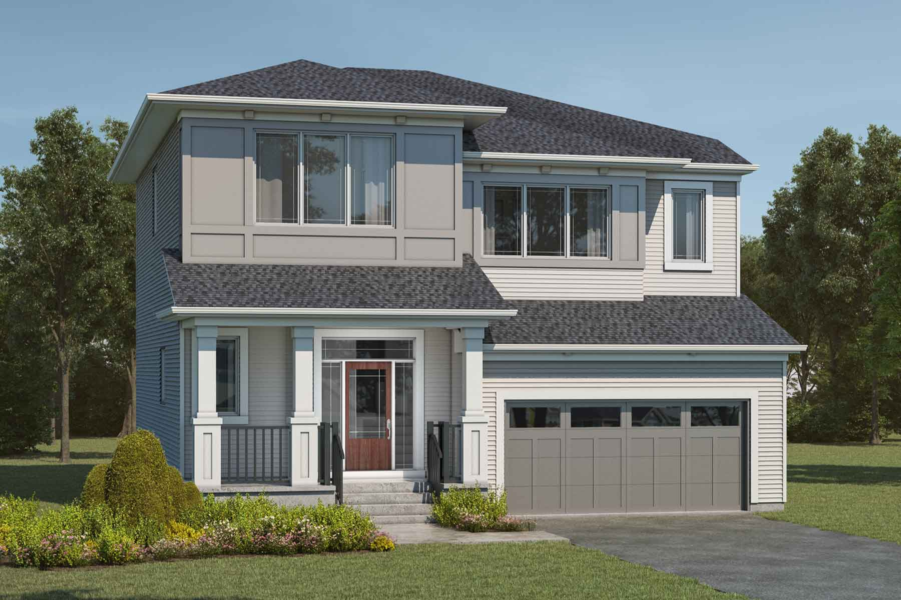 Ptarmigan Plan Elevation Front at Cityscape in Calgary Alberta by Mattamy Homes
