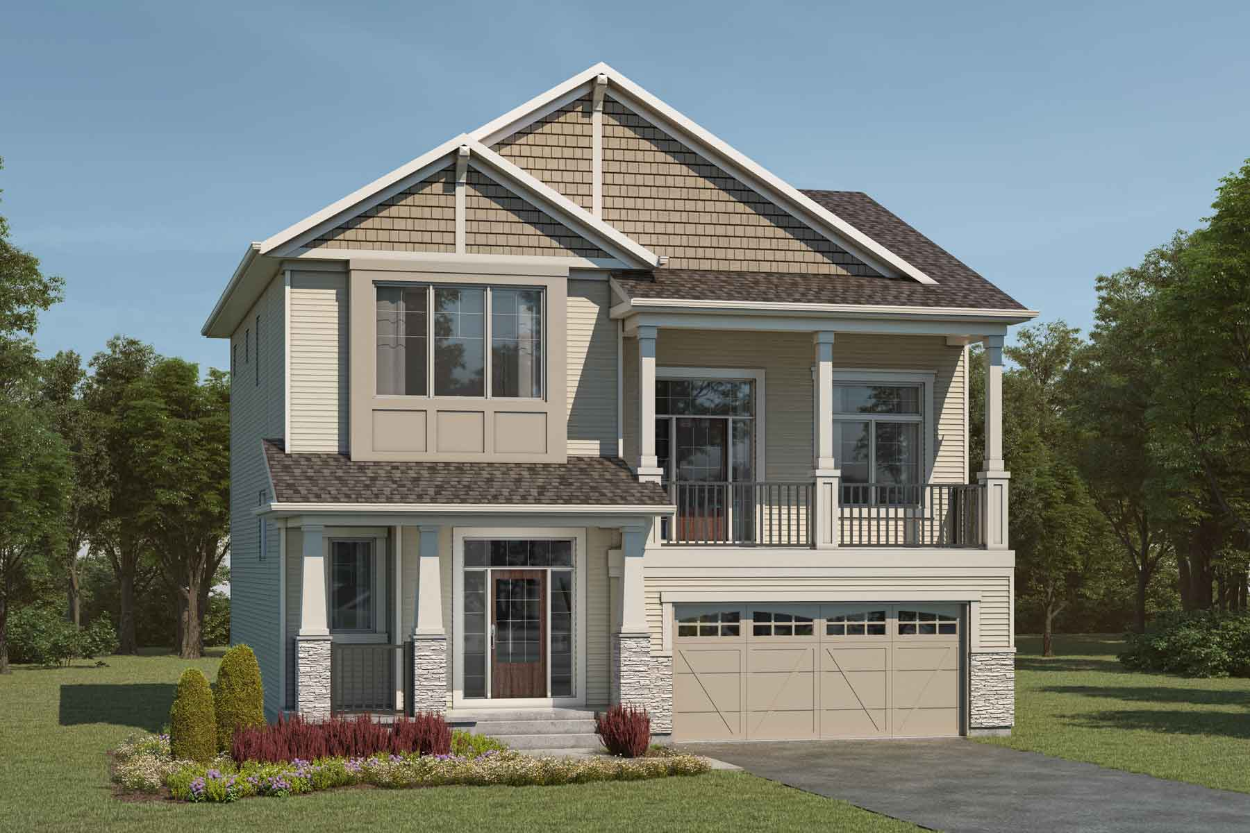 Rutherford Plan Elevation Front at Cityscape in Calgary Alberta by Mattamy Homes