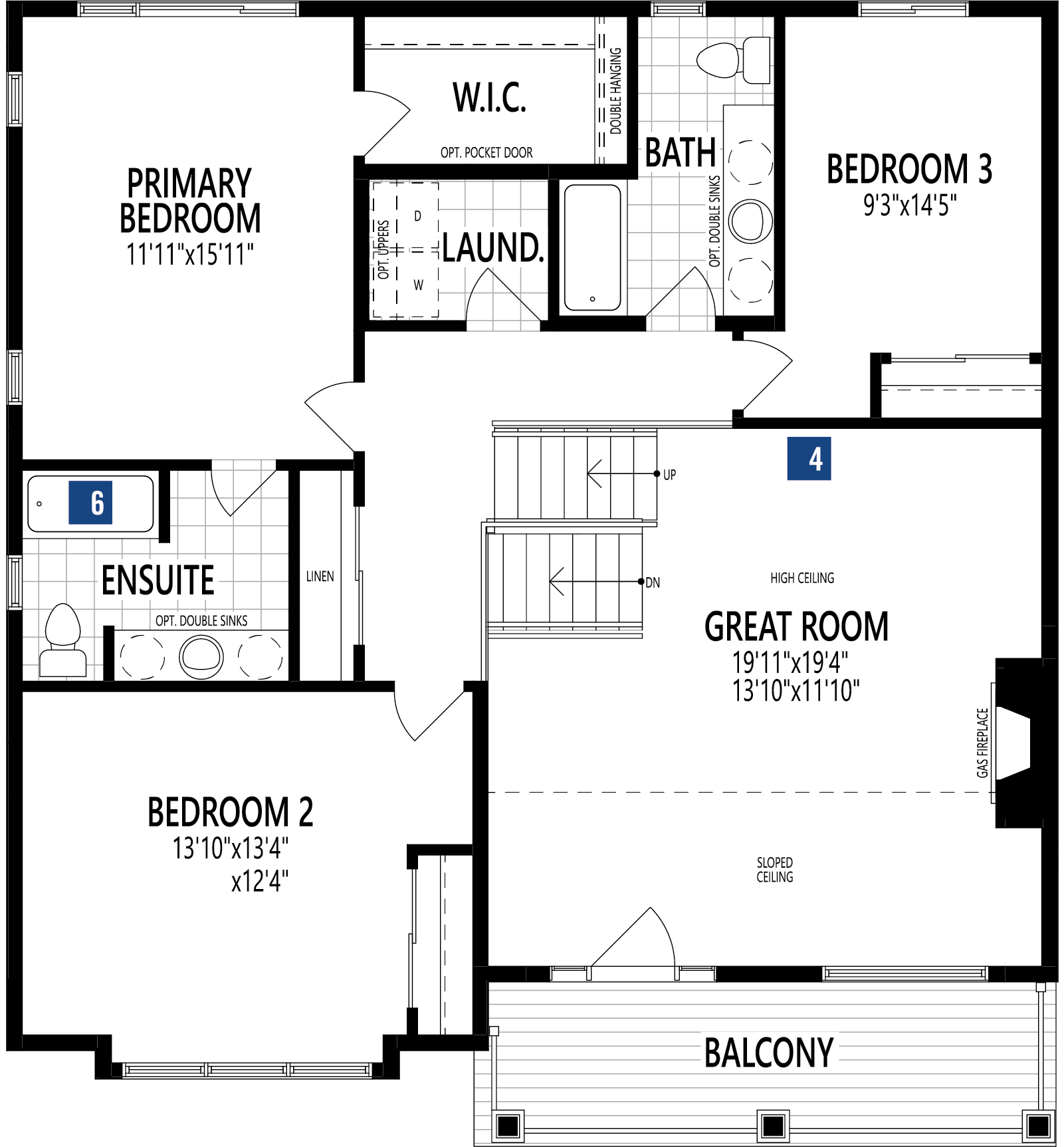Rutherford Plan Floor Plan at Cityscape in Calgary Alberta by Mattamy Homes