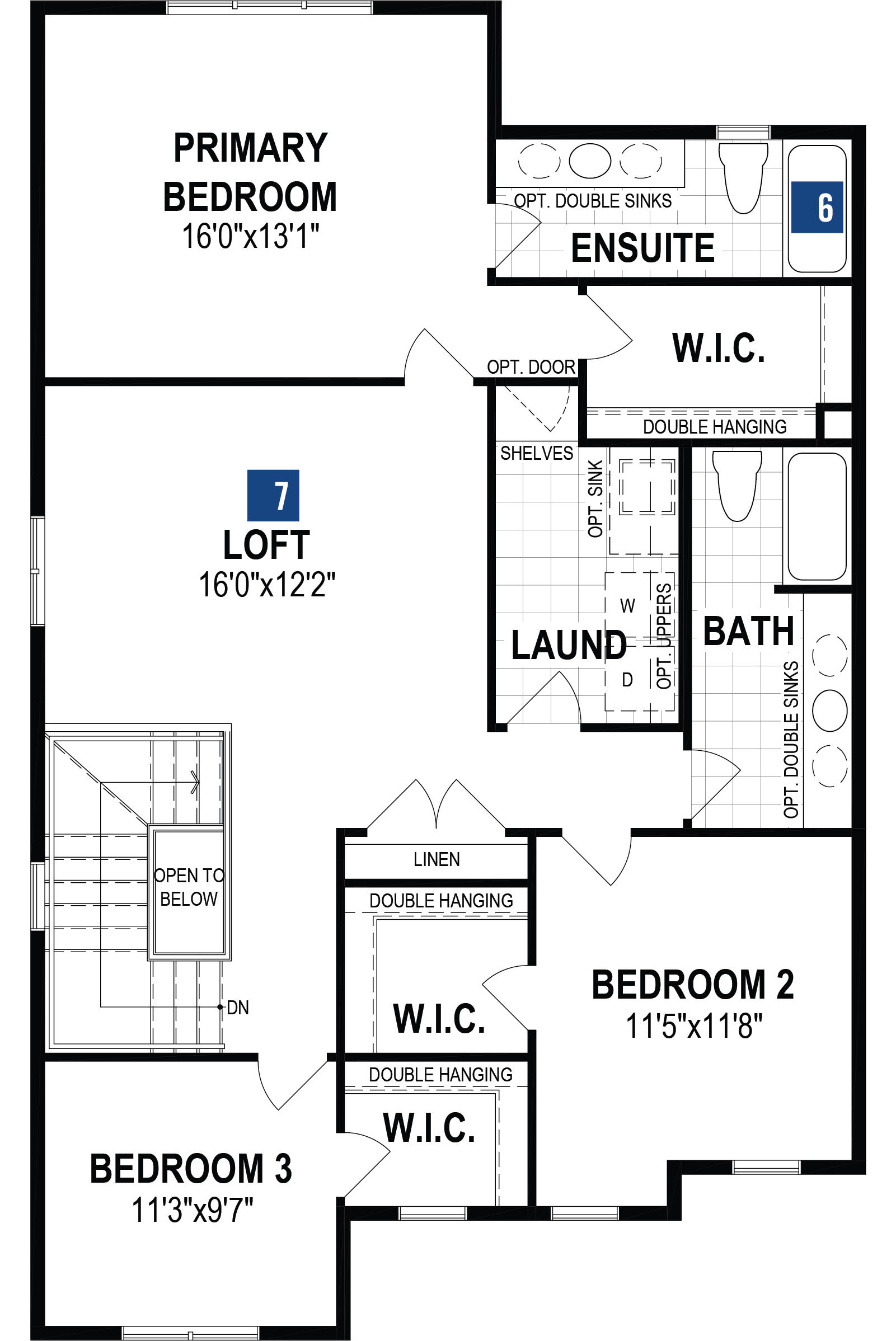 Slate Plan Floor Plan at Cityscape in Calgary Alberta by Mattamy Homes