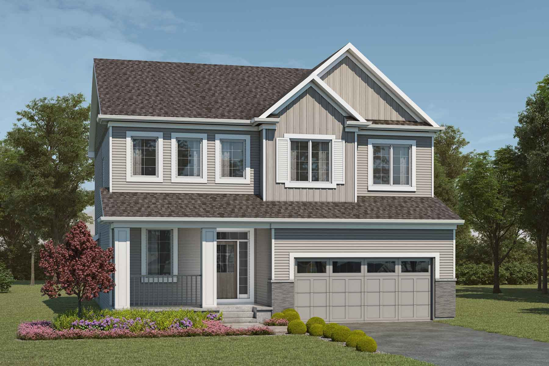Smythe Plan Elevation Front at Cityscape in Calgary Alberta by Mattamy Homes