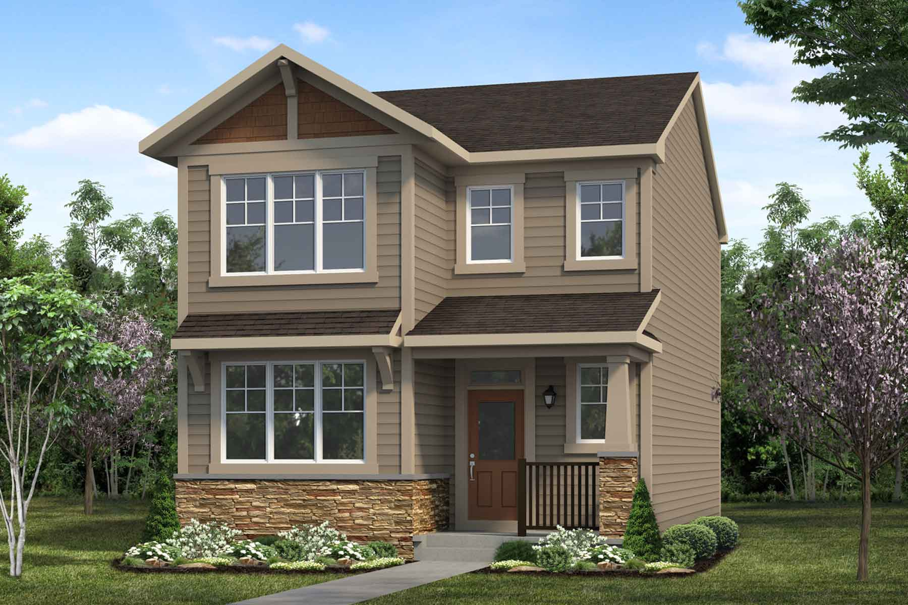 Thames Plan Elevation Front at Cityscape in Calgary Alberta by Mattamy Homes