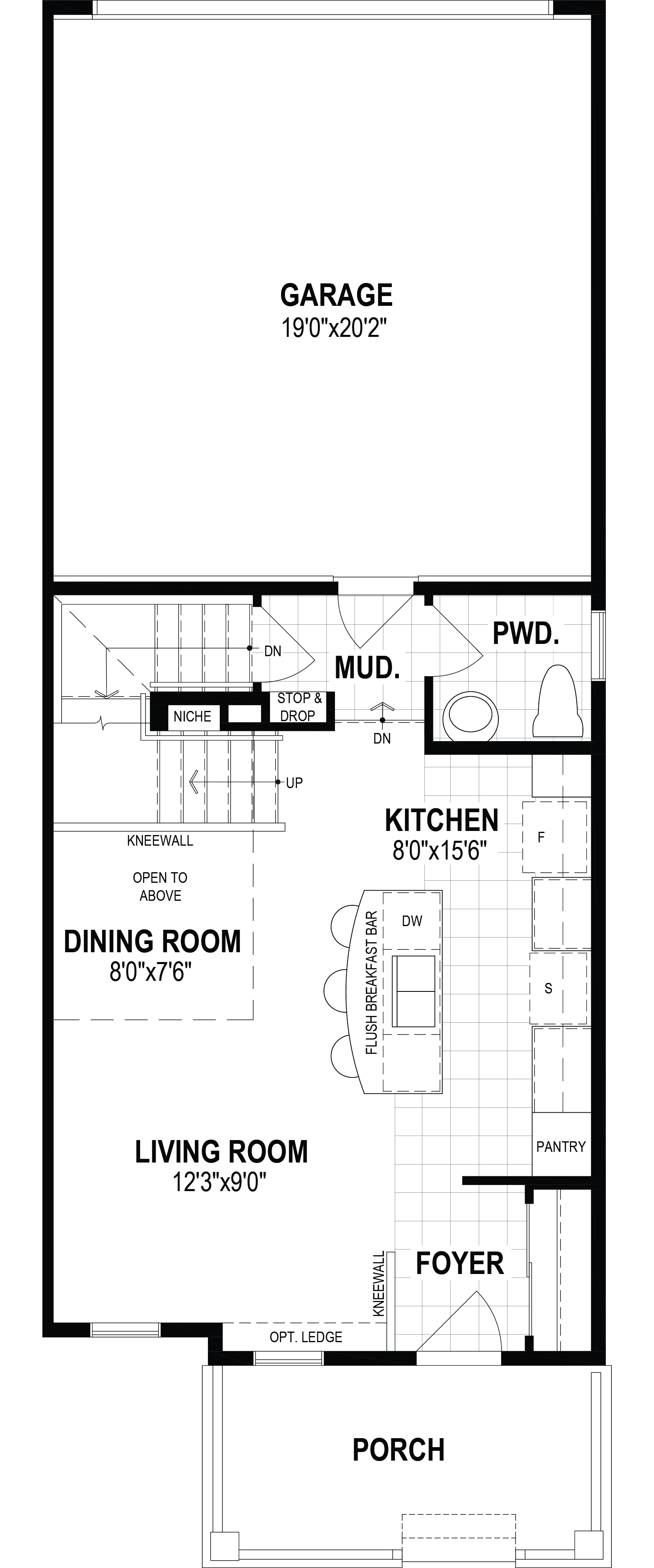 Vanier End Plan Floor Plan at Cityscape in Calgary Alberta by Mattamy Homes