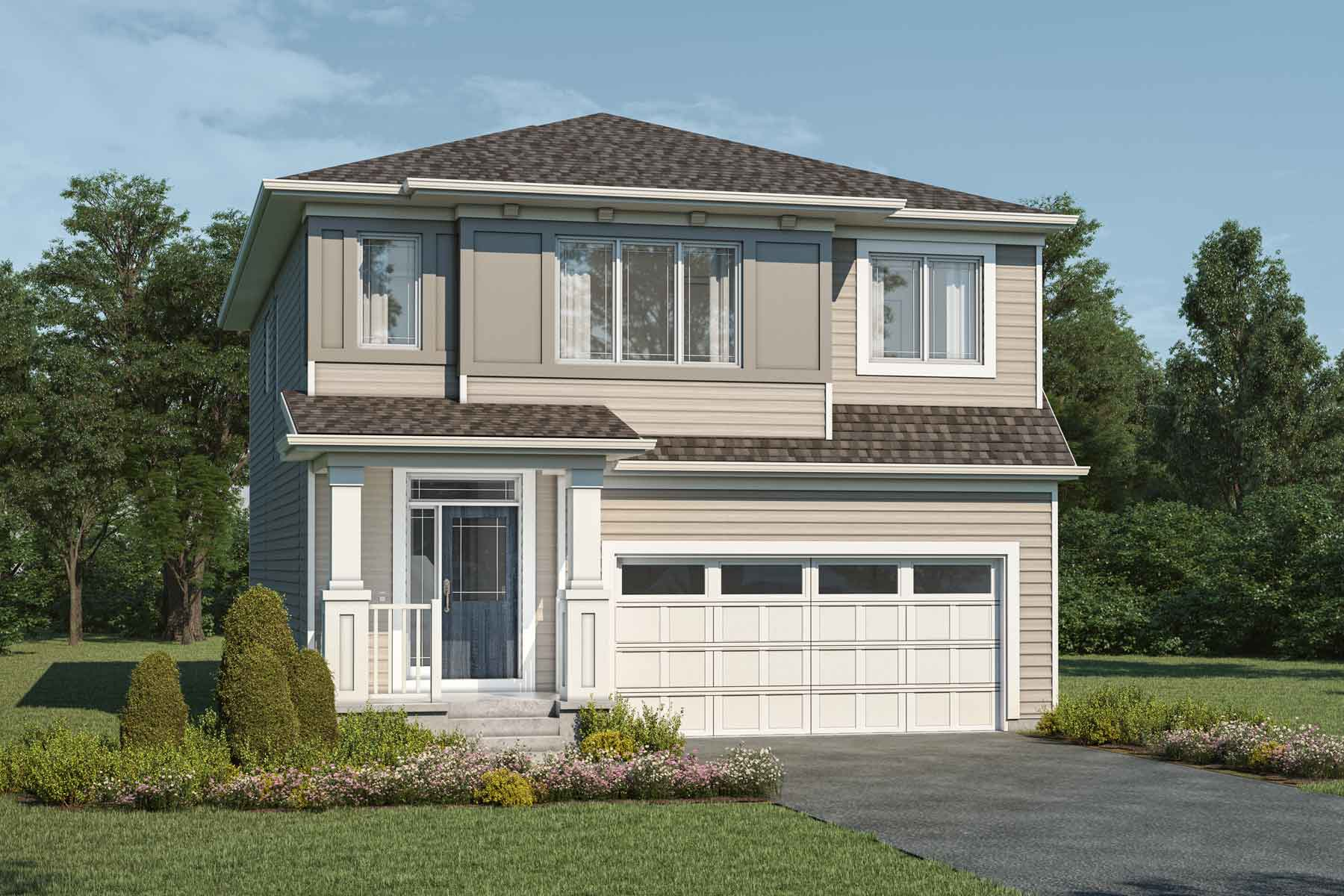 Whistler Plan Elevation Front at Cityscape in Calgary Alberta by Mattamy Homes
