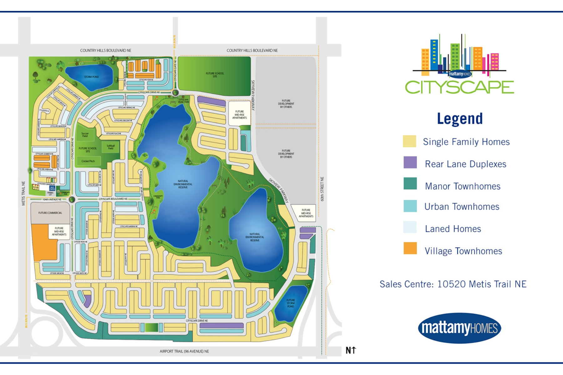 Cityscape Lot Map in Calgary Alberta by Mattamy Homes