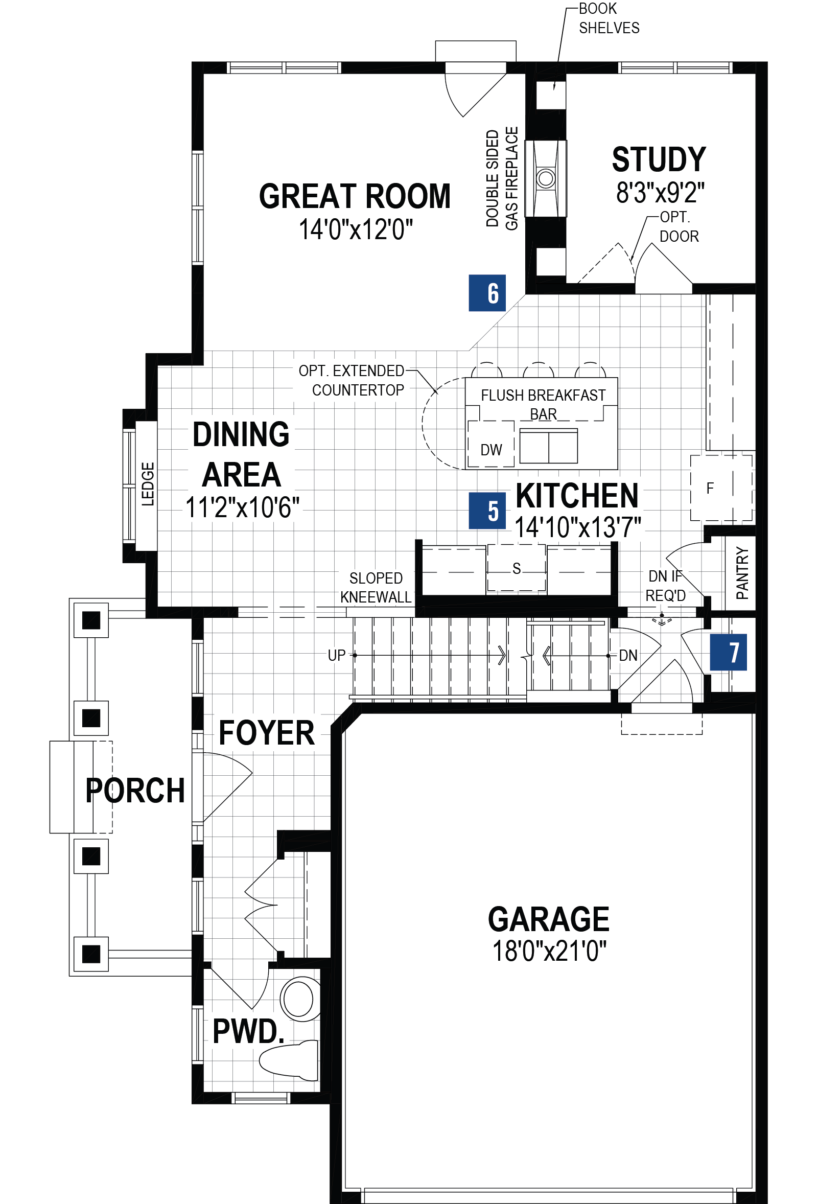 Berkley Corner Plan Floor Plan at Southwinds in Airdrie Alberta by Mattamy Homes