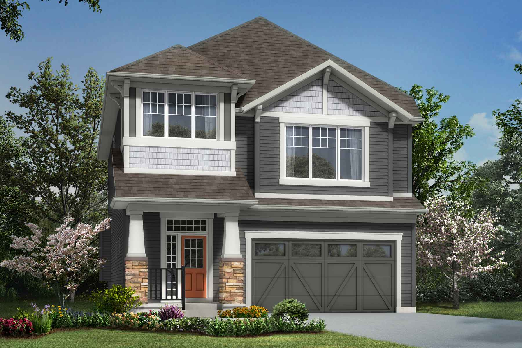 Bradford Plan elevationcraftsman_southwinds_bradford at Southwinds in Airdrie Alberta by Mattamy Homes