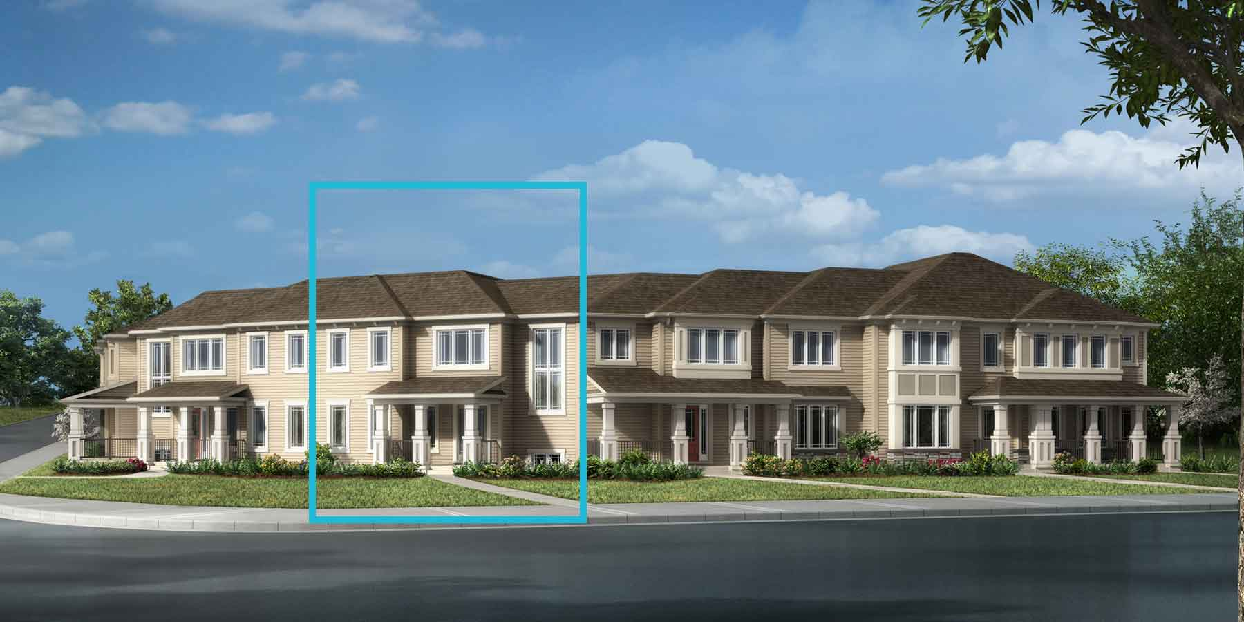 Brinkley I Plan TownHomes at Southwinds in Airdrie Alberta by Mattamy Homes