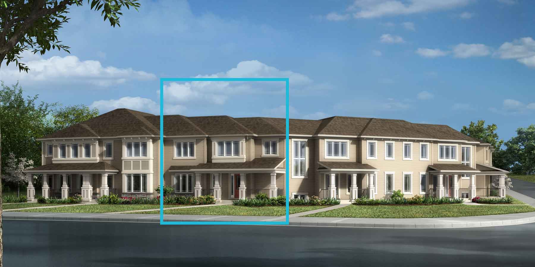 Brinkley II Plan TownHomes at Southwinds in Airdrie Alberta by Mattamy Homes