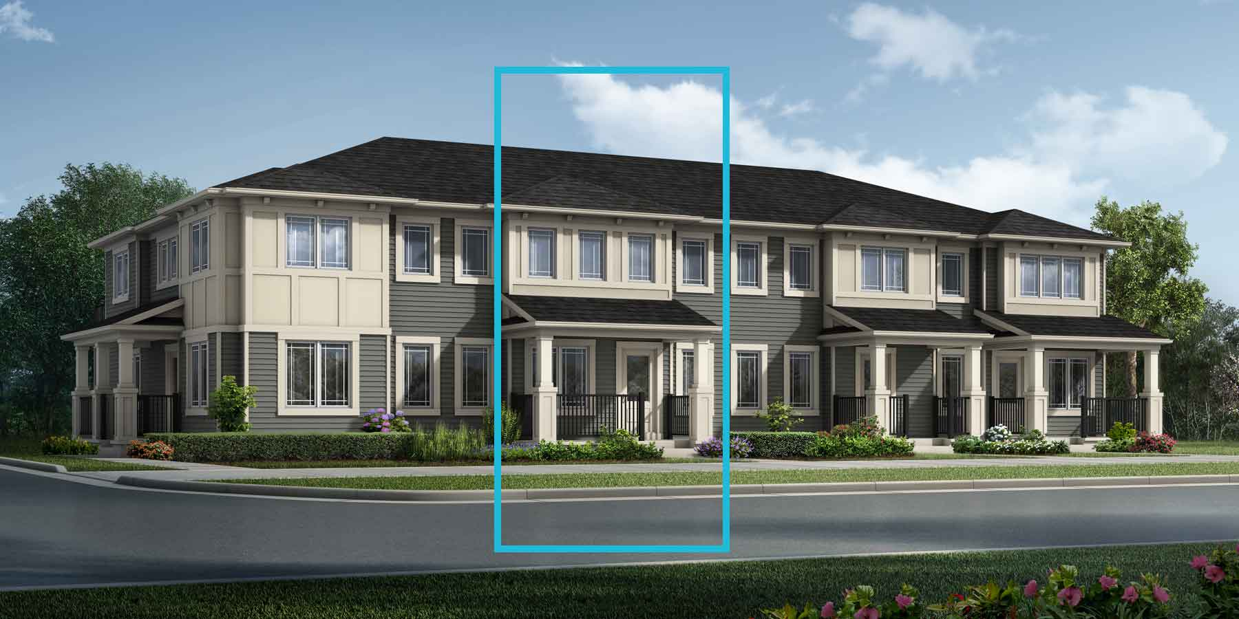 Brooke Plan TownHomes at Southwinds in Airdrie Alberta by Mattamy Homes