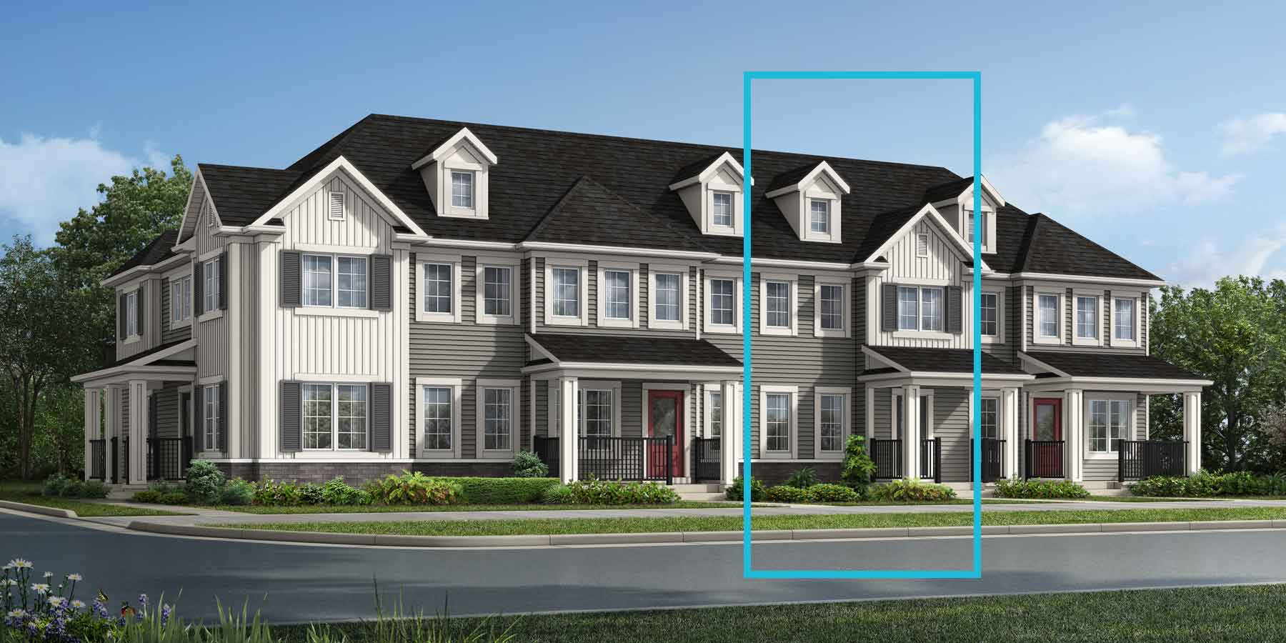 Fisher Plan TownHomes at Southwinds in Airdrie Alberta by Mattamy Homes
