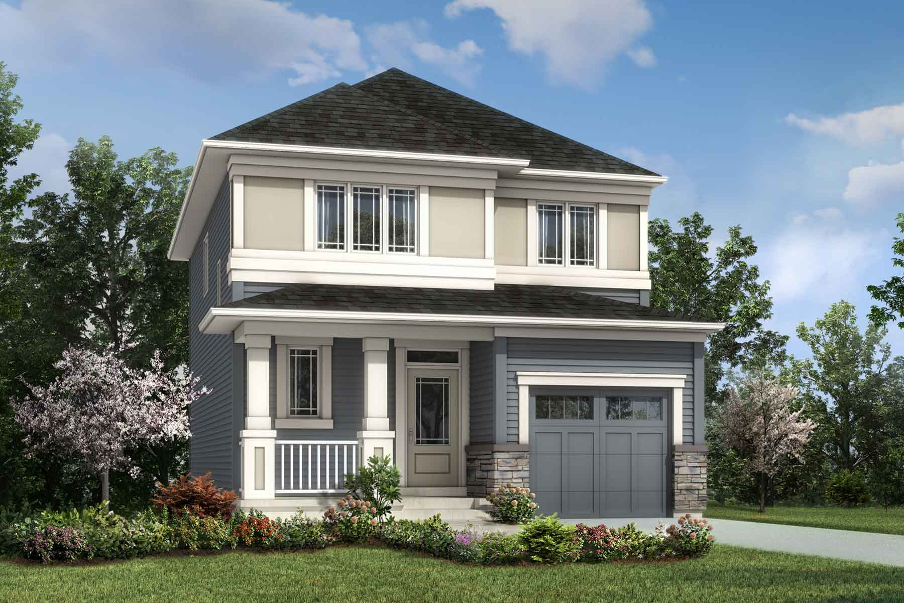 Hudson Plan elevationprairie_southwinds_hudson at Southwinds in Airdrie Alberta by Mattamy Homes