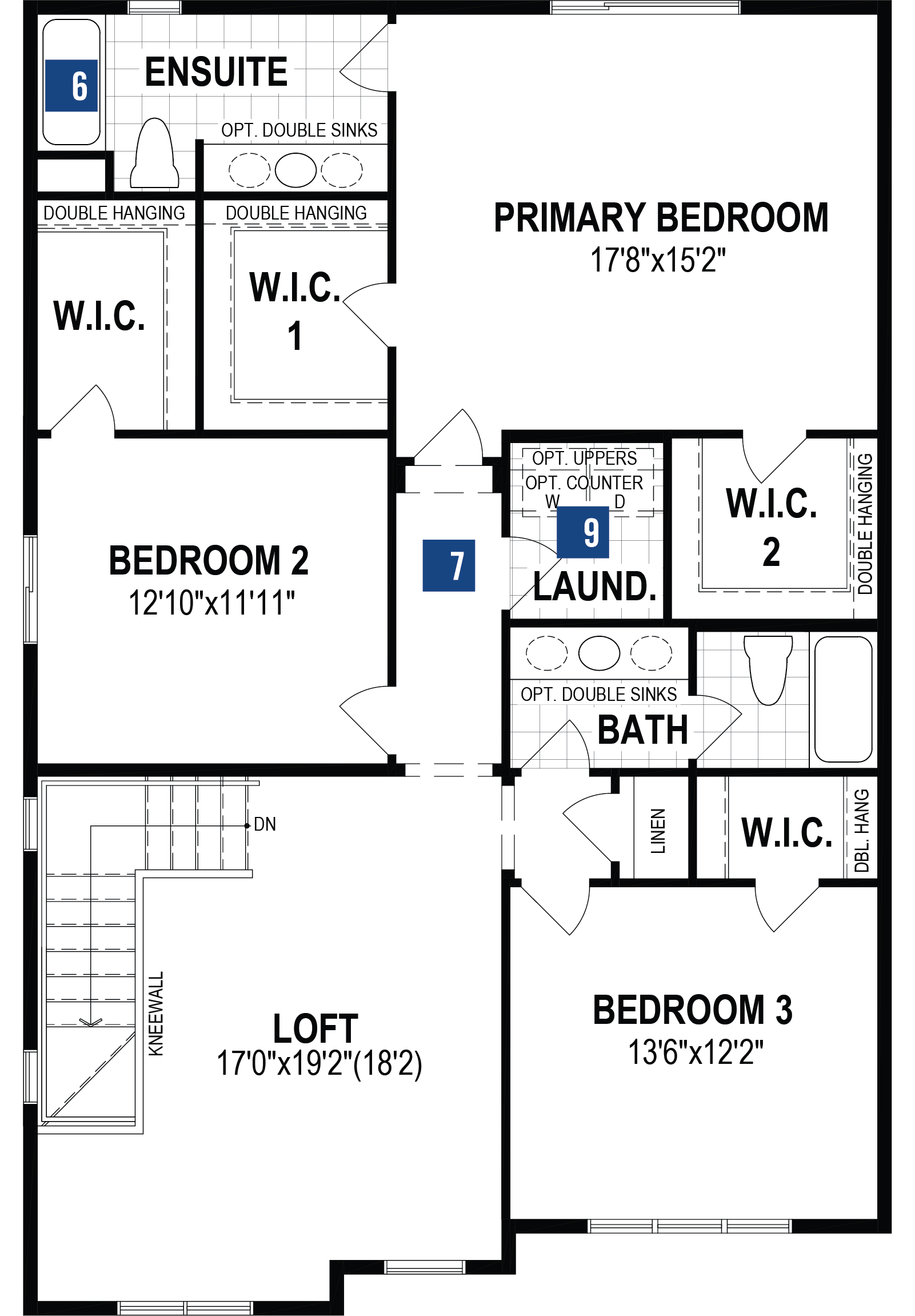 Jade Plan Floor Plan at Southwinds in Airdrie Alberta by Mattamy Homes