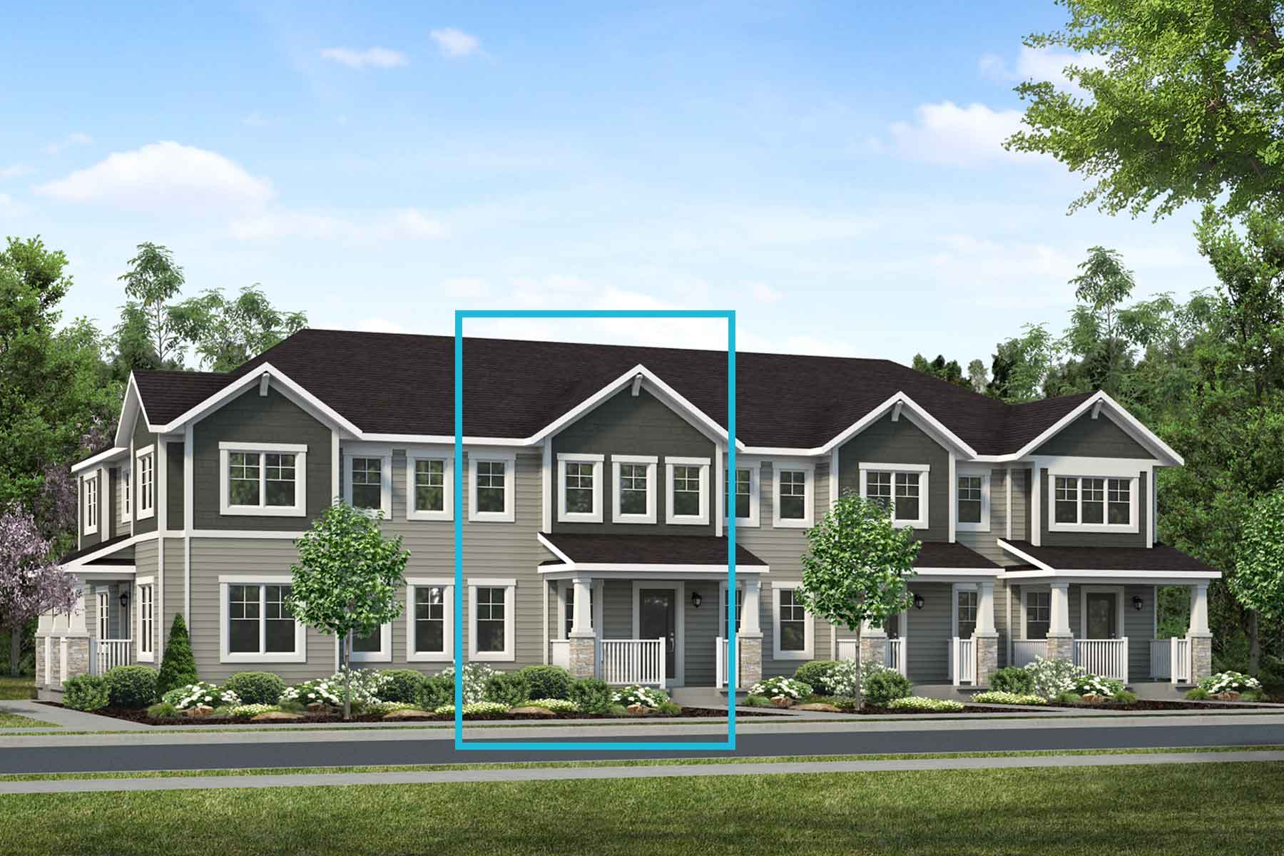 Kanata Plan TownHomes at Southwinds in Airdrie Alberta by Mattamy Homes