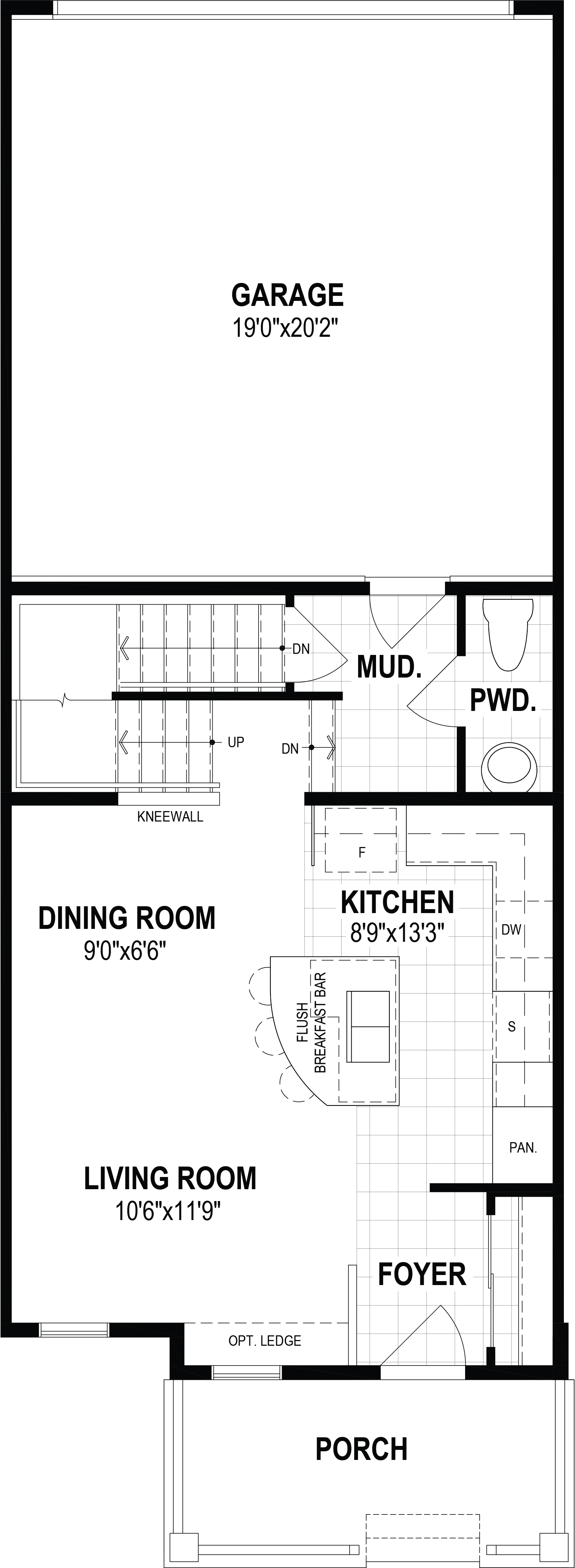 Kanata Plan Floor Plan at Southwinds in Airdrie Alberta by Mattamy Homes