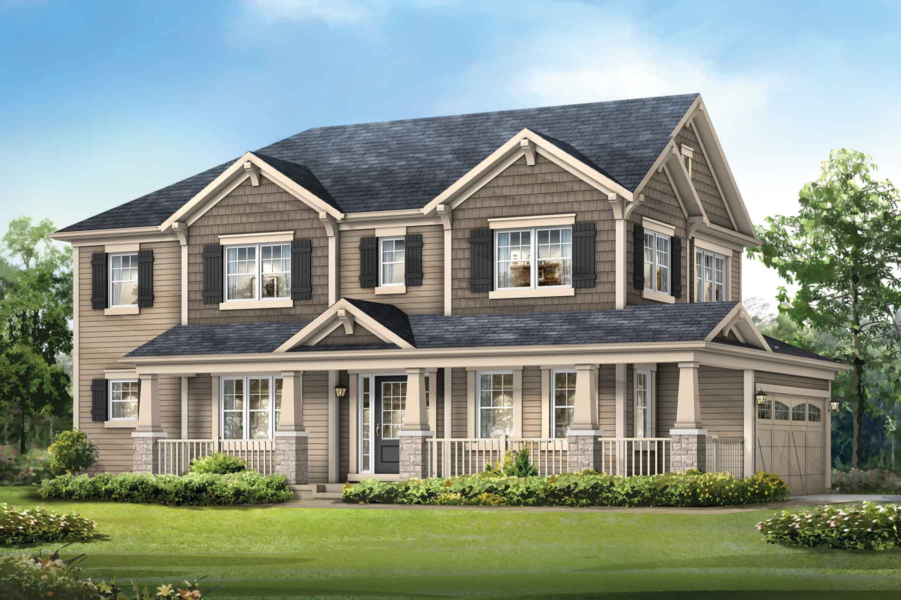 Kingsley Corner Plan elevationc_southwinds_kingsleycorner_main at Southwinds in Airdrie Alberta by Mattamy Homes