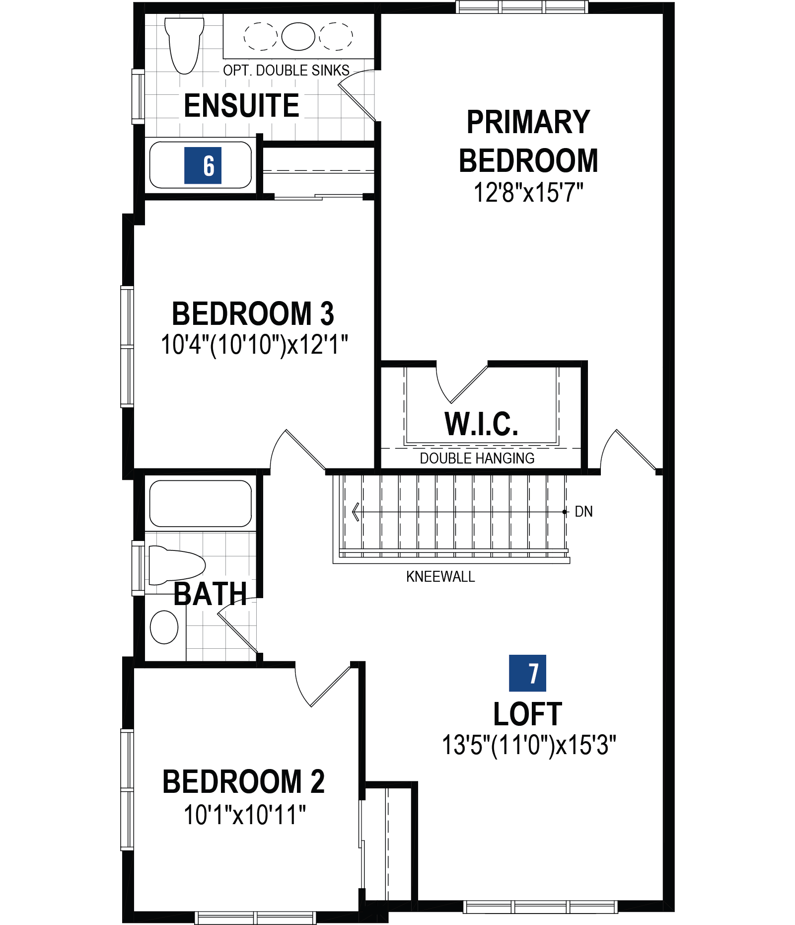 Kingsley Corner Plan Floor Plan at Southwinds in Airdrie Alberta by Mattamy Homes
