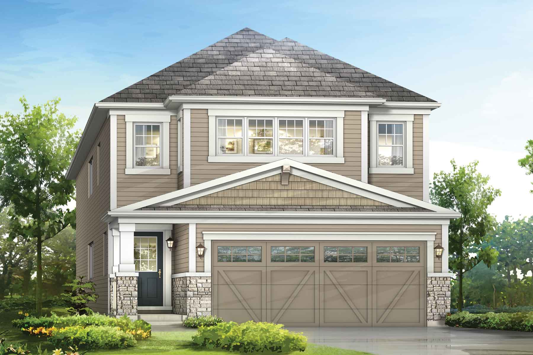 Lennox Plan Elevation Front at Southwinds in Airdrie Alberta by Mattamy Homes
