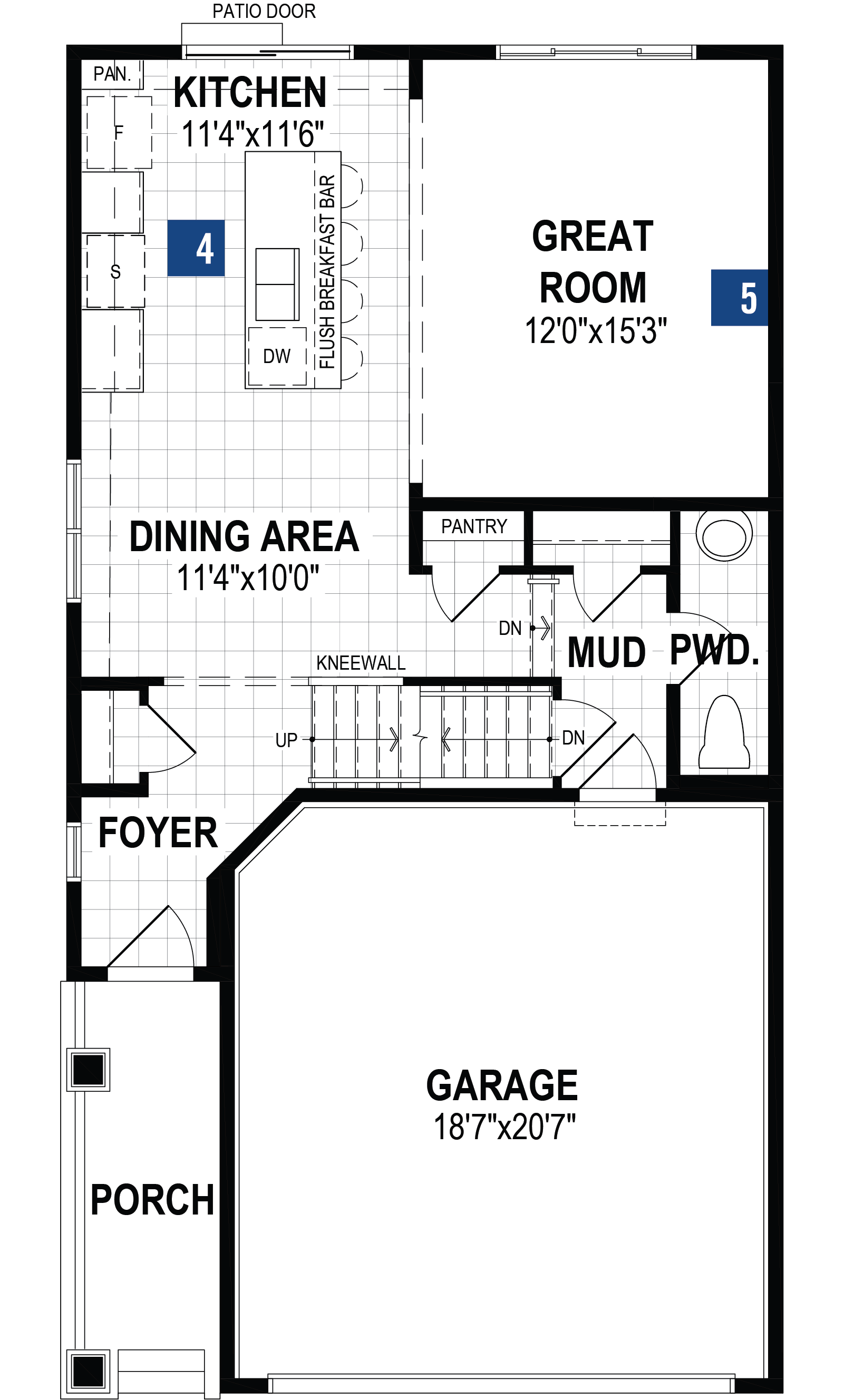 Lennox Plan Floor Plan at Southwinds in Airdrie Alberta by Mattamy Homes