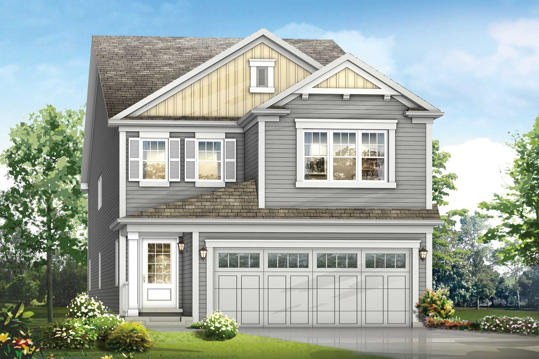 Mission Plan elevationcolonial_southwinds_mission at Southwinds in Airdrie Alberta by Mattamy Homes