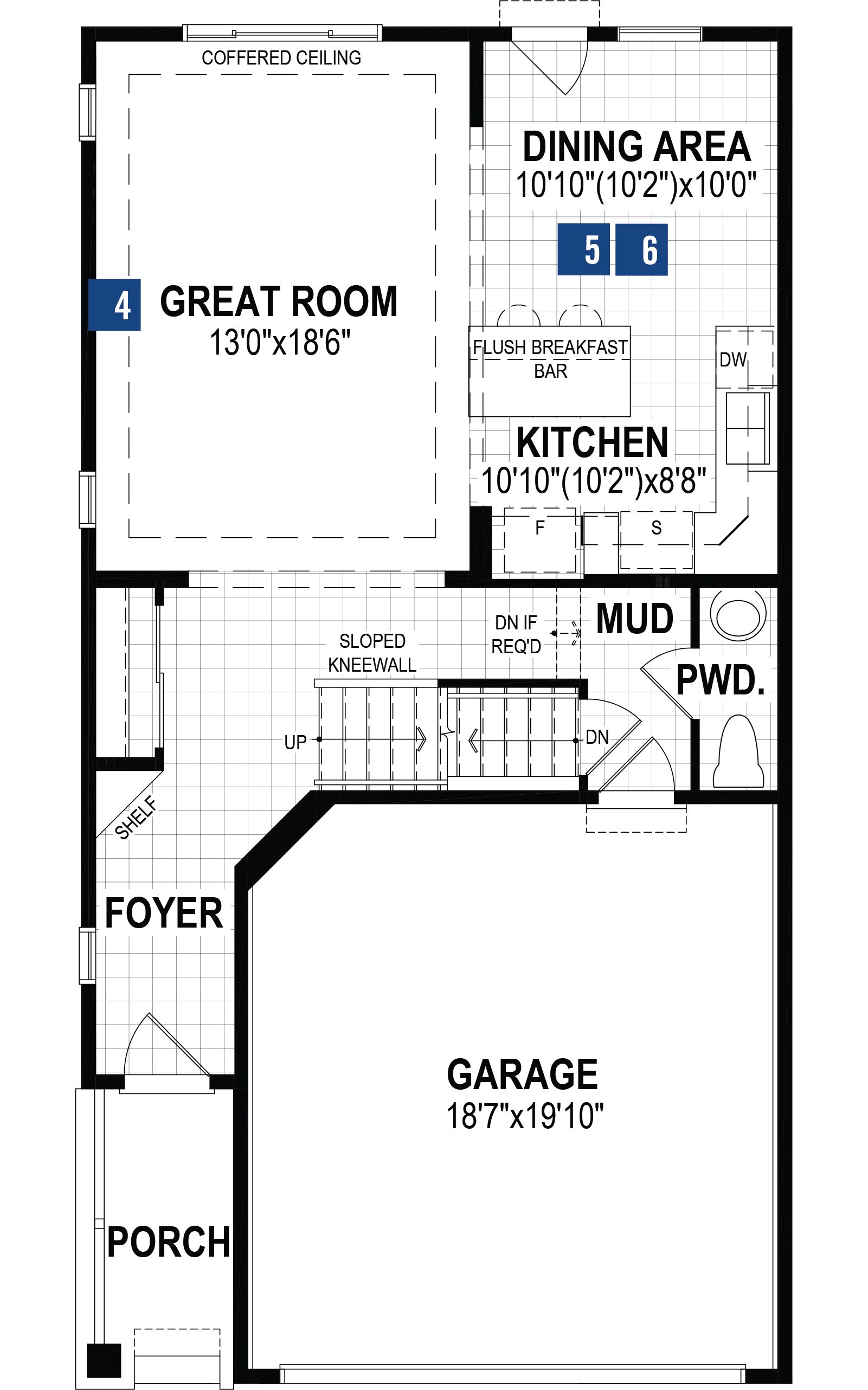 Mission Plan Floor Plan at Southwinds in Airdrie Alberta by Mattamy Homes