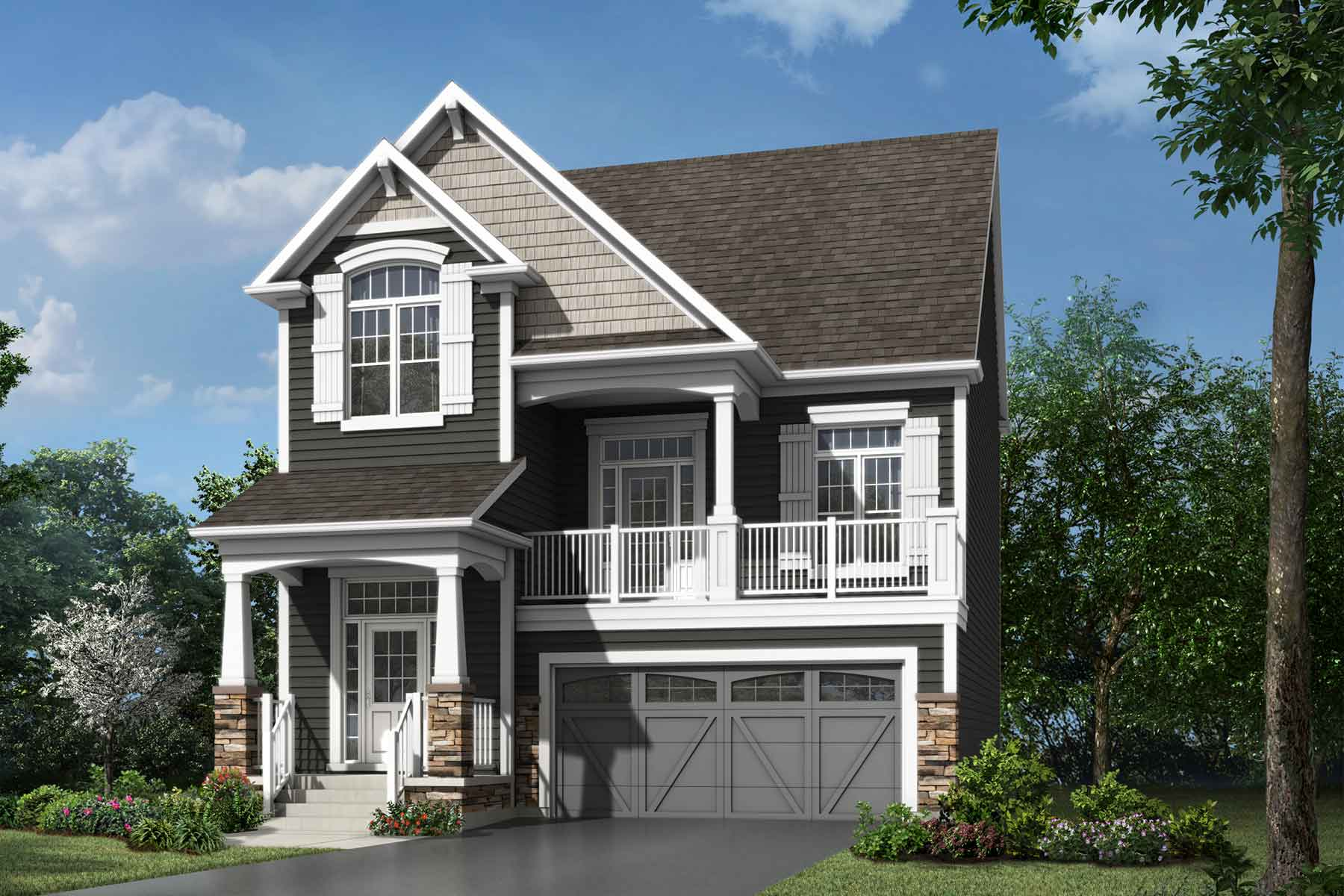 Onyx Plan elevationcraftsman_southwinds_onyx at Southwinds in Airdrie Alberta by Mattamy Homes