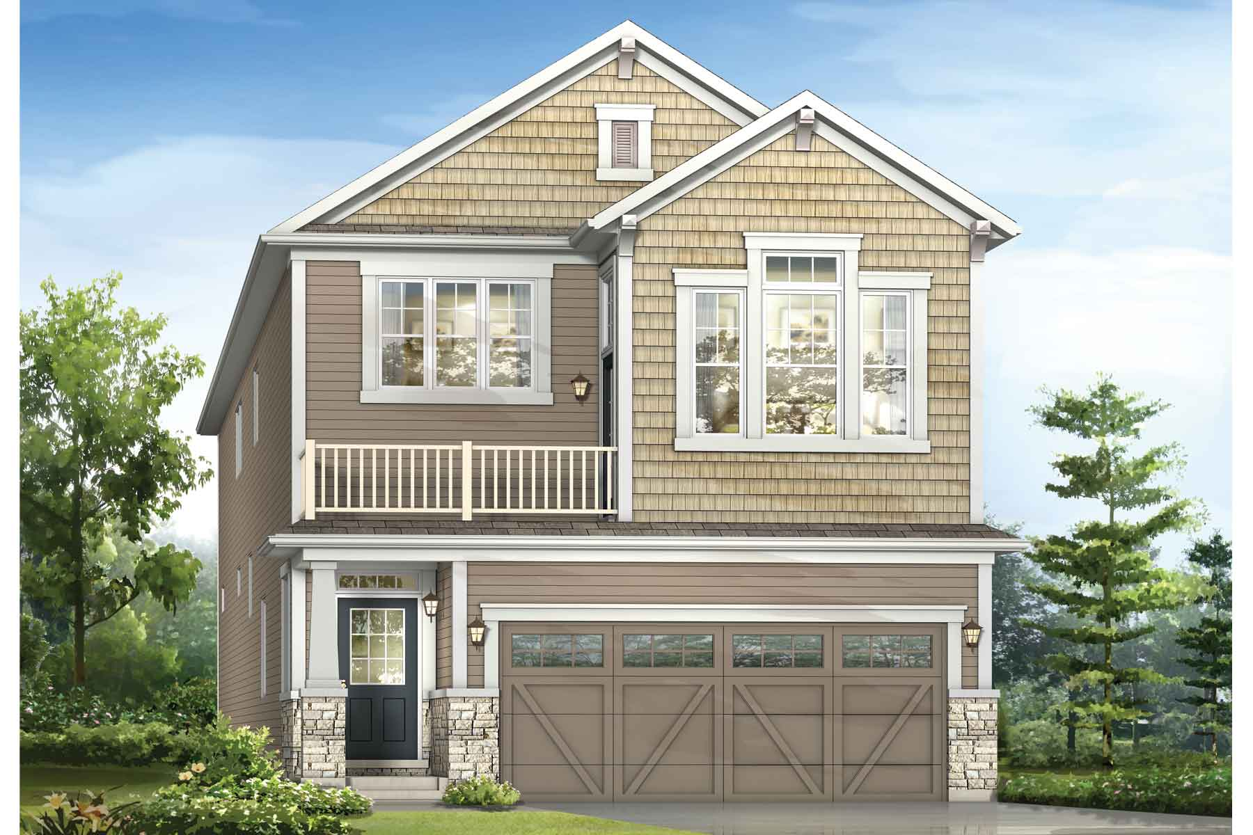 Orchid Plan elevationcraftsman_southwinds_orchid_main at Southwinds in Airdrie Alberta by Mattamy Homes