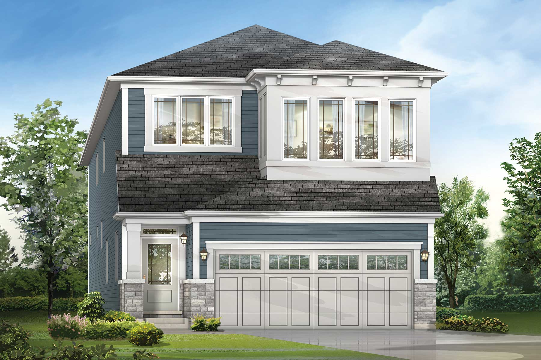 Orchid Plan Elevation Front at Southwinds in Airdrie Alberta by Mattamy Homes
