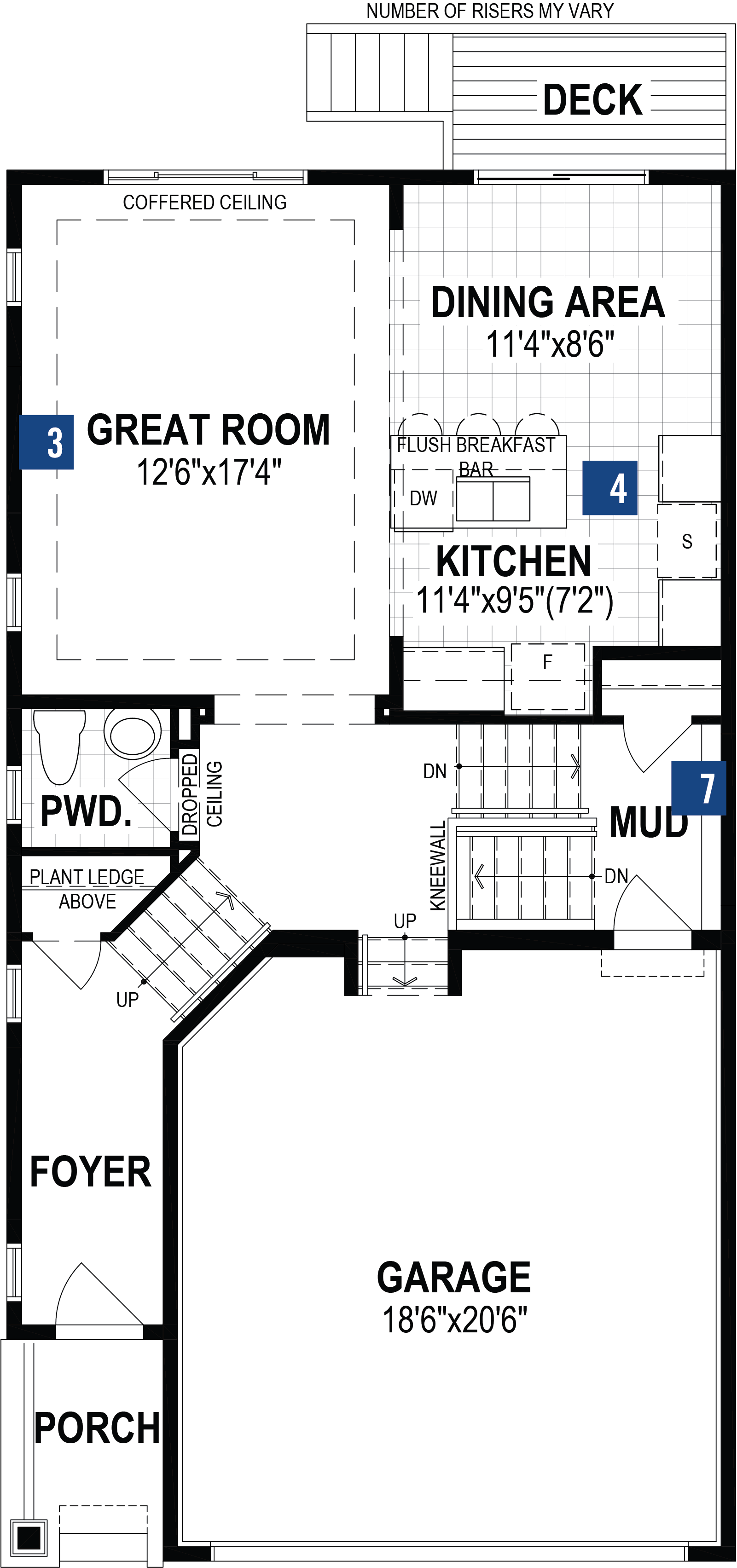 Orchid Plan Floor Plan at Southwinds in Airdrie Alberta by Mattamy Homes