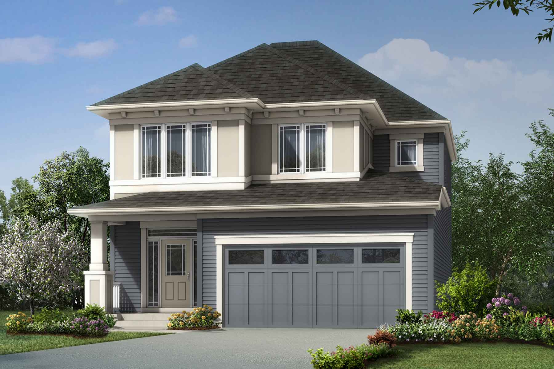 Riedel Plan Elevation Front at Southwinds in Airdrie Alberta by Mattamy Homes