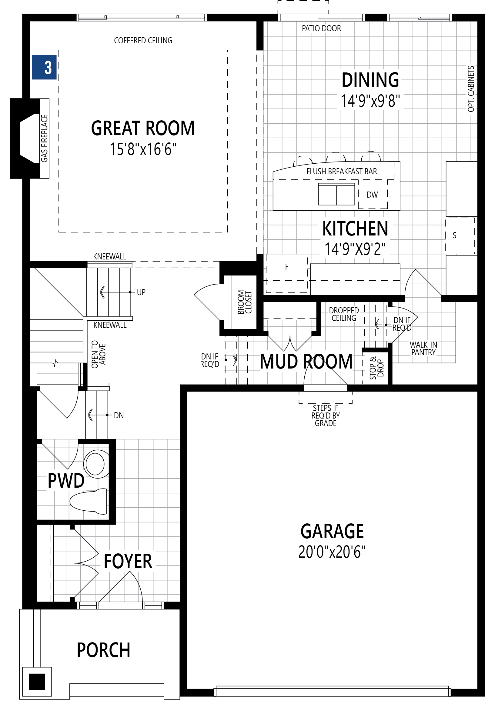 Riedel Plan Floor Plan at Southwinds in Airdrie Alberta by Mattamy Homes