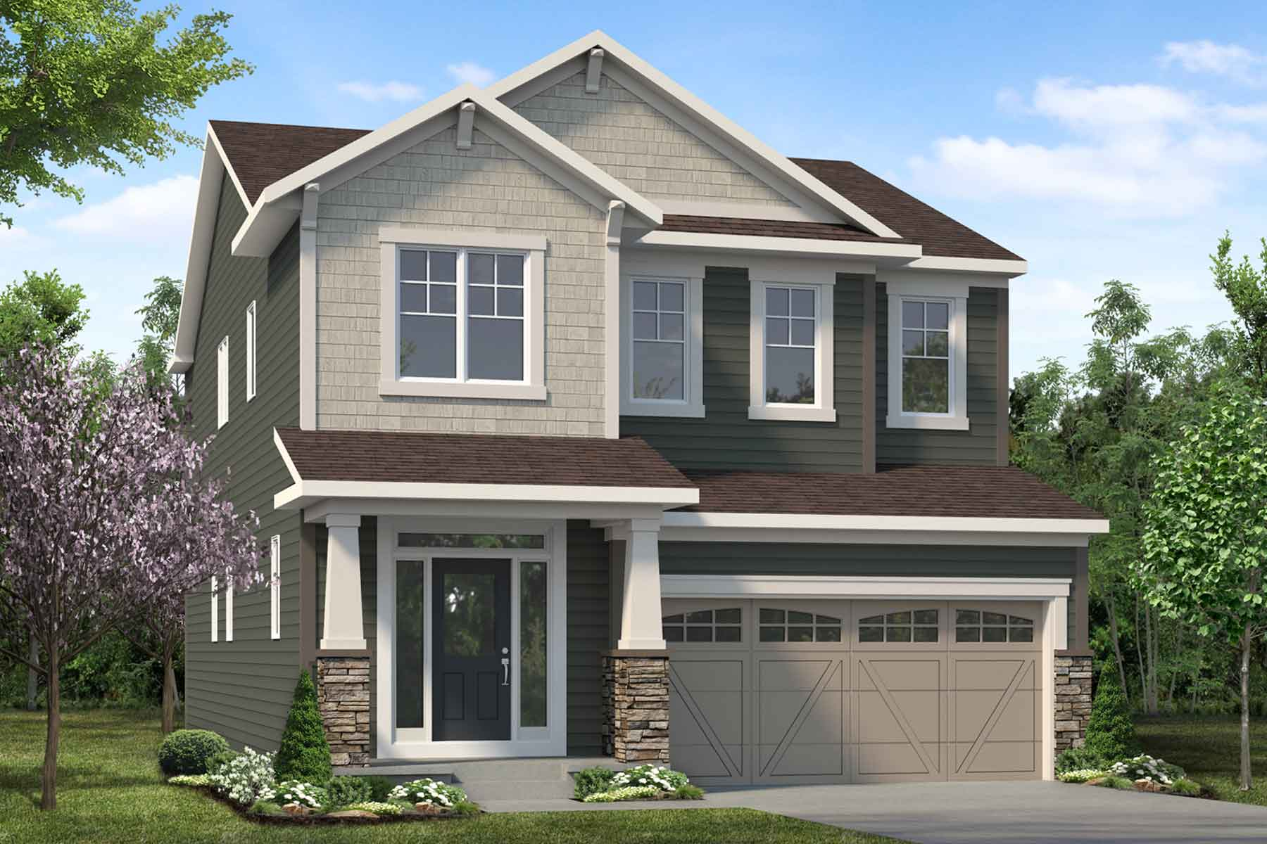 Slate Plan elevationcraftsman_southwinds_slate_main at Southwinds in Airdrie Alberta by Mattamy Homes