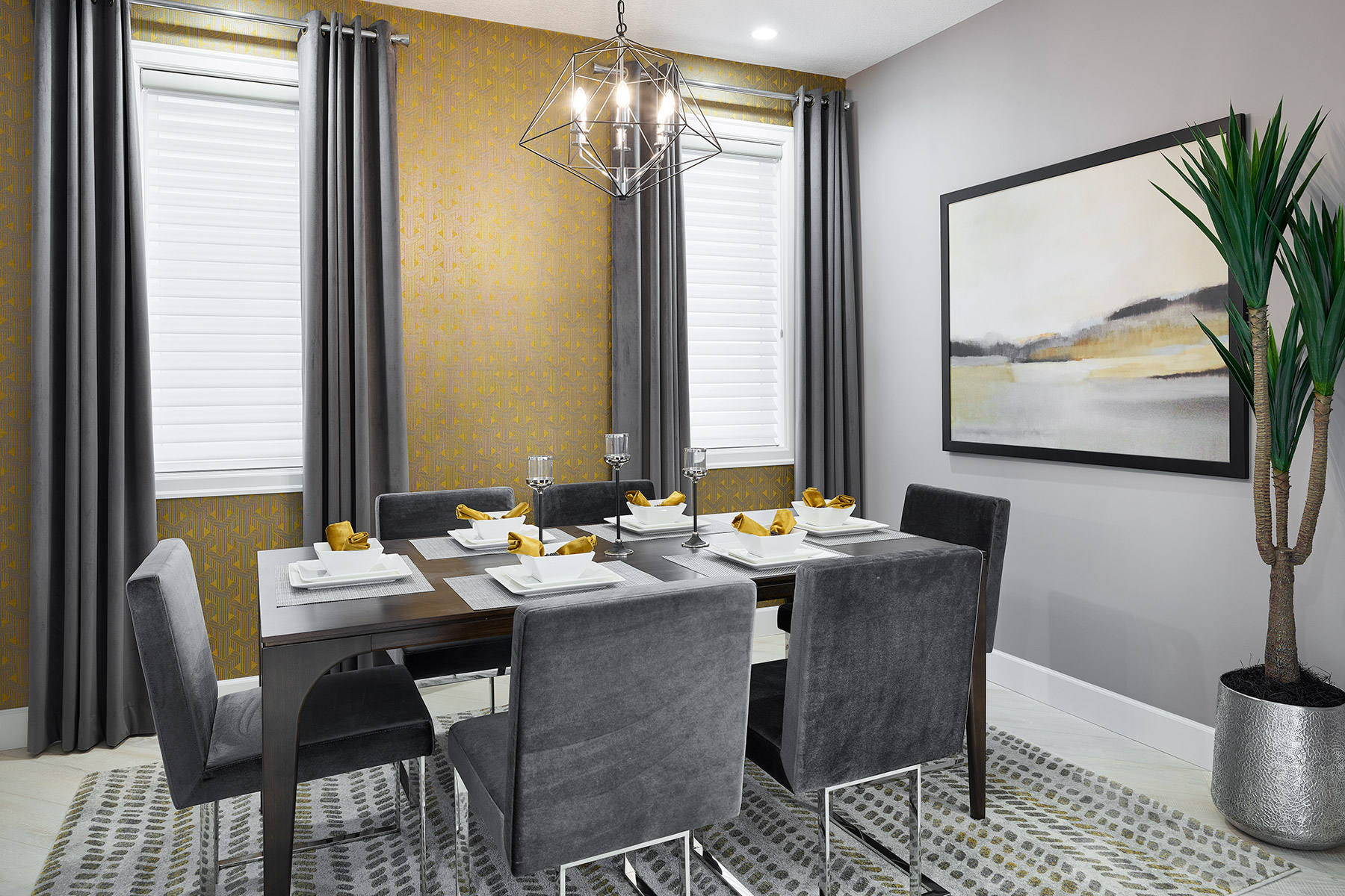 Slate Plan Dining at Southwinds in Airdrie Alberta by Mattamy Homes