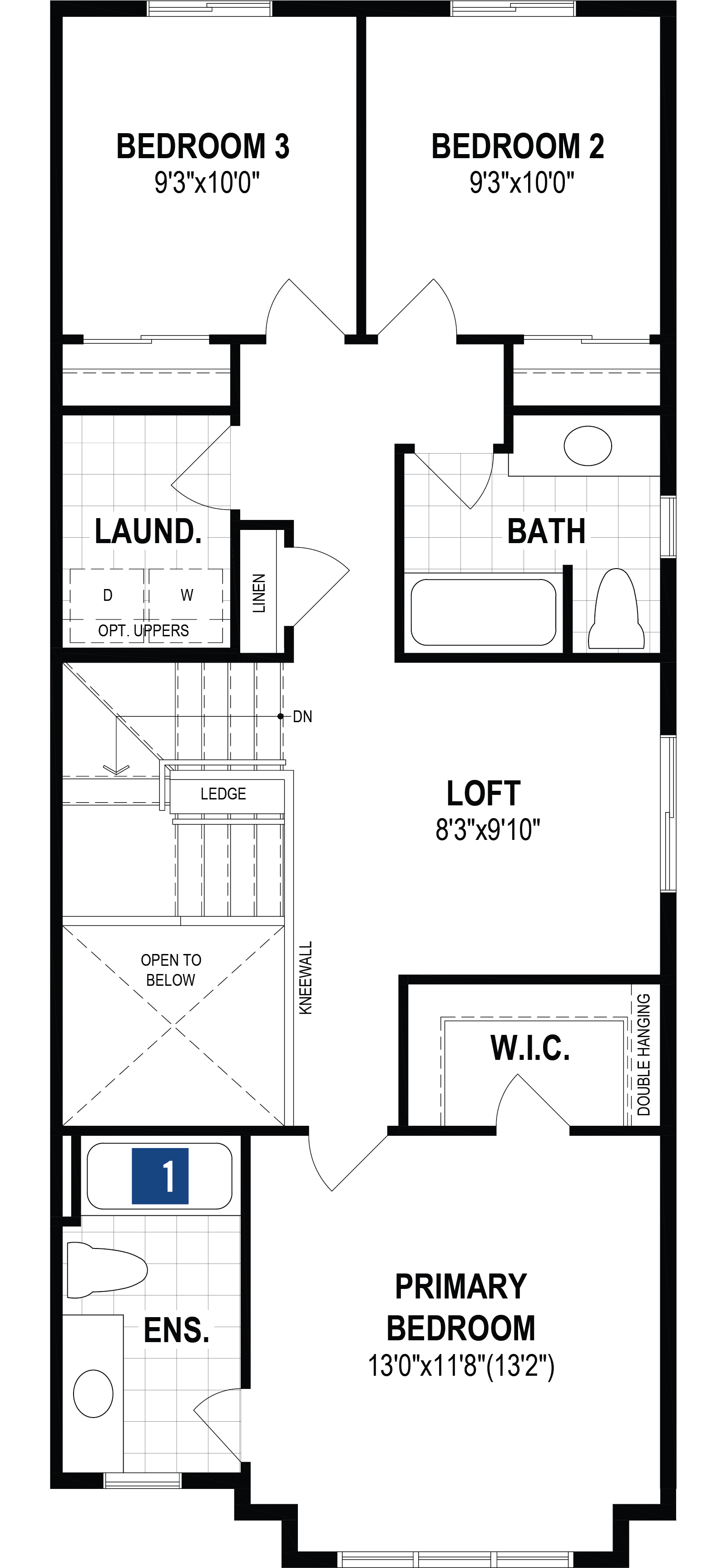 Vanier End Plan Floor Plan at Southwinds in Airdrie Alberta by Mattamy Homes
