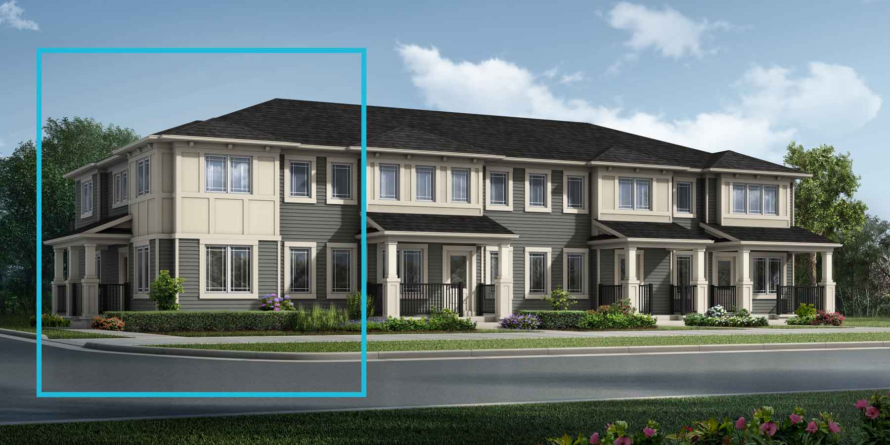 Windsor Corner Plan TownHomes at Southwinds in Airdrie Alberta by Mattamy Homes