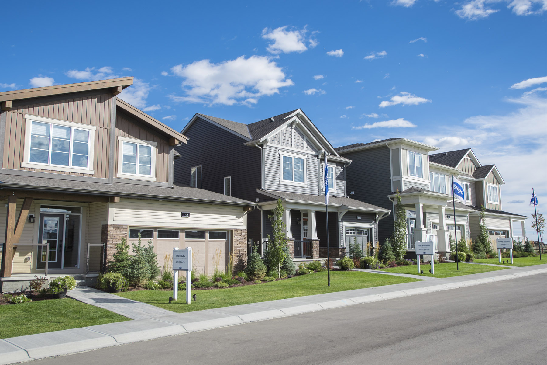 The Enclave In Carrington Elevation Front in Calgary Alberta by Mattamy Homes