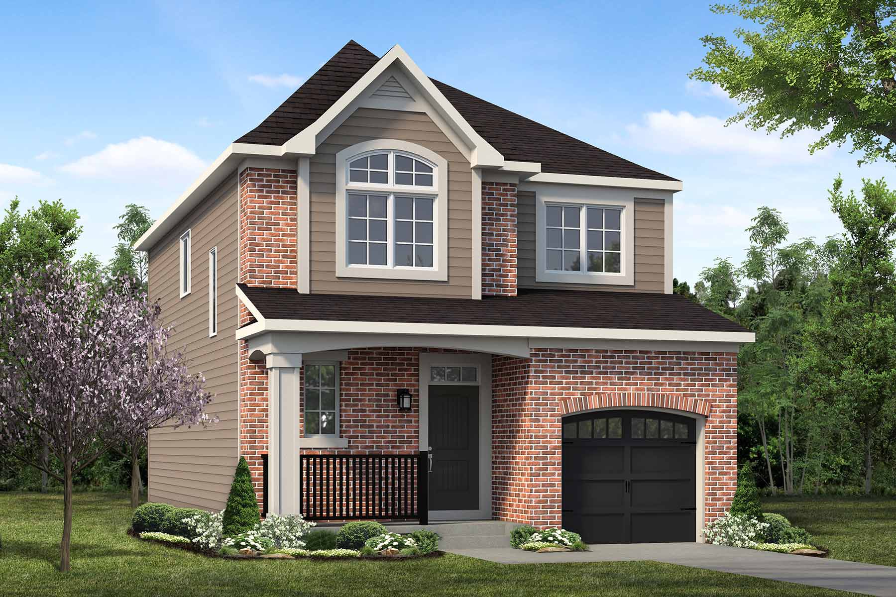 Hudson Plan Elevation Front at The Enclave In Carrington in Calgary Alberta by Mattamy Homes