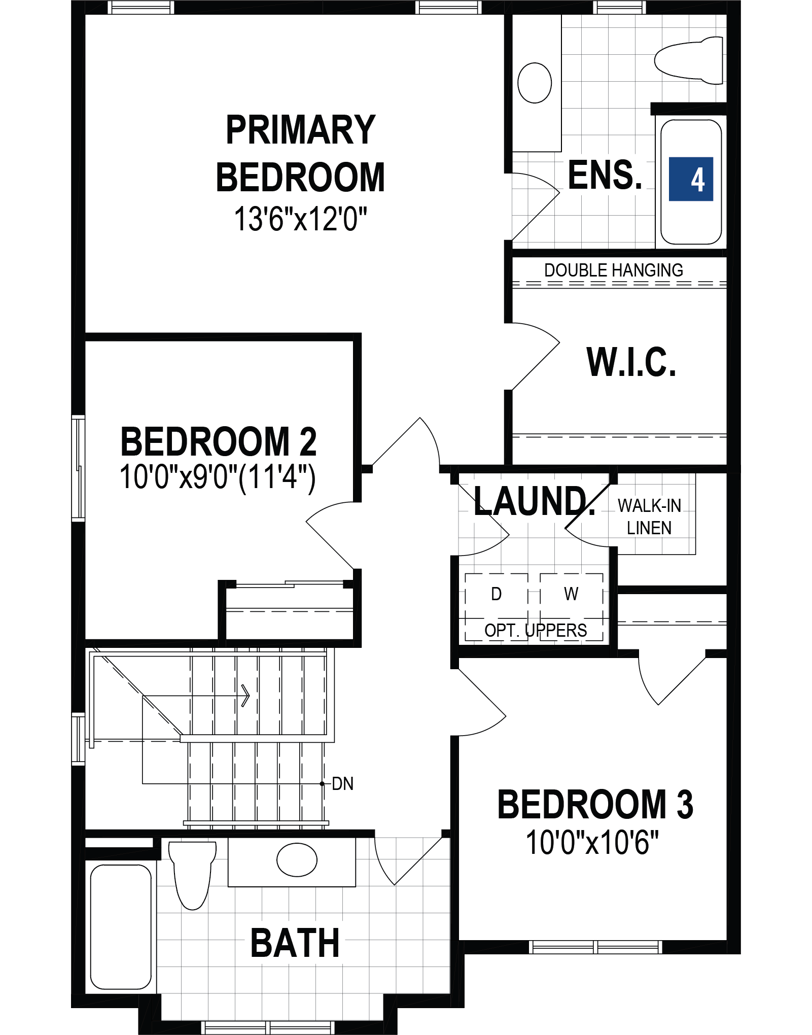 Hudson Plan Floor Plan at The Enclave In Carrington in Calgary Alberta by Mattamy Homes