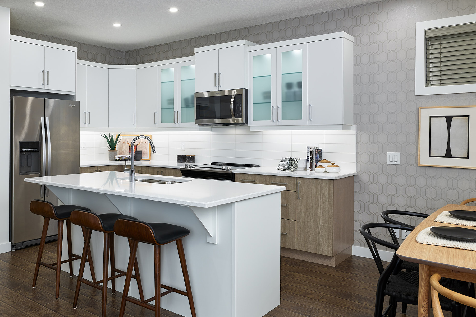 Hudson Plan Kitchen at The Enclave In Carrington in Calgary Alberta by Mattamy Homes