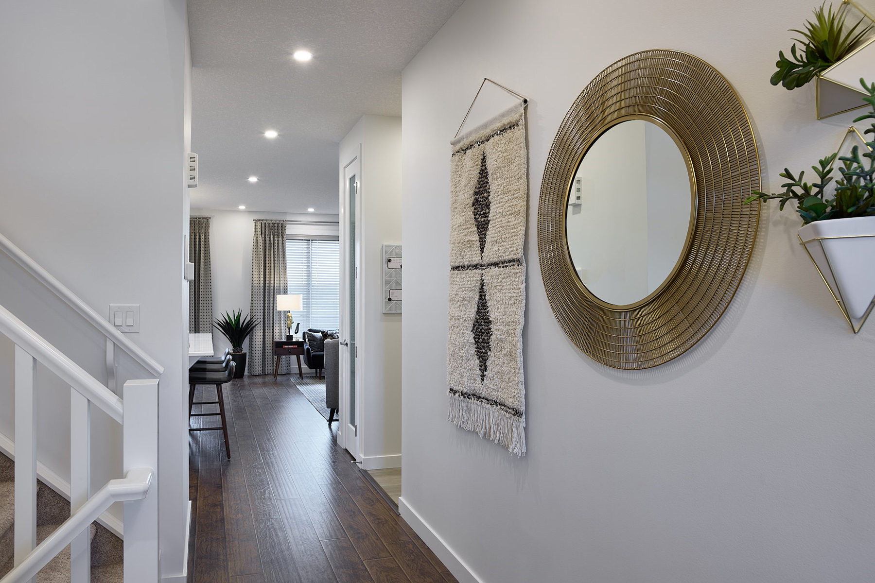 Hudson Plan Hallway at The Enclave In Carrington in Calgary Alberta by Mattamy Homes